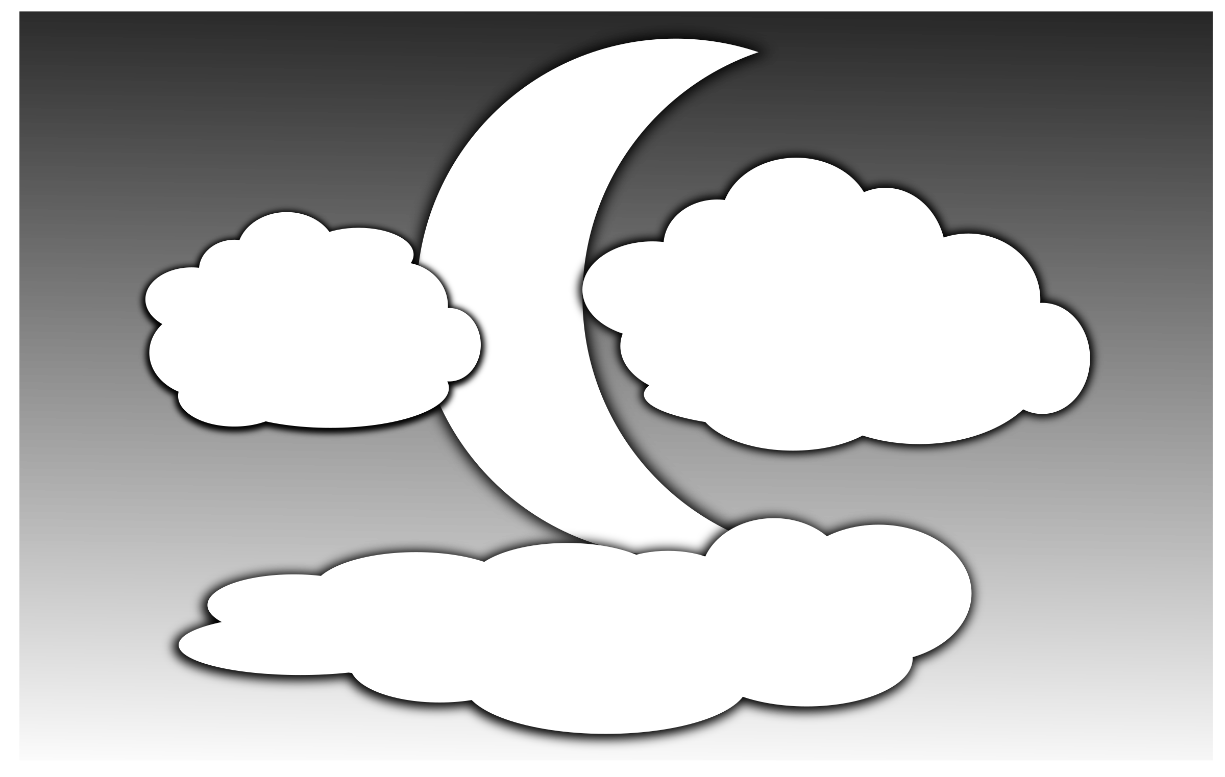 Clouds and the Moon 2 by inky2010