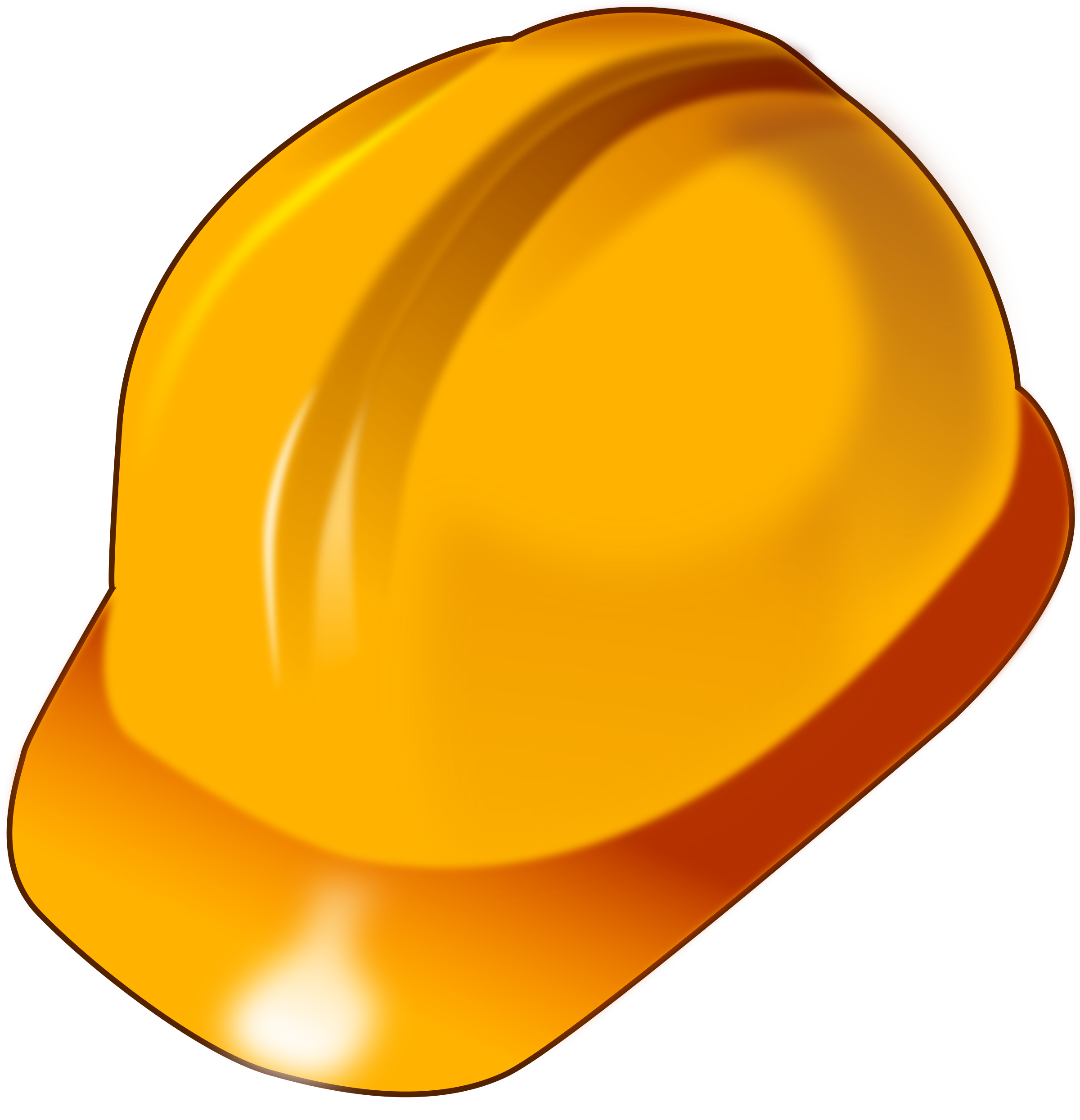 clipart hard hat rh openclipart org yellow hard hat clip art hard hat clip art how not to wear them
