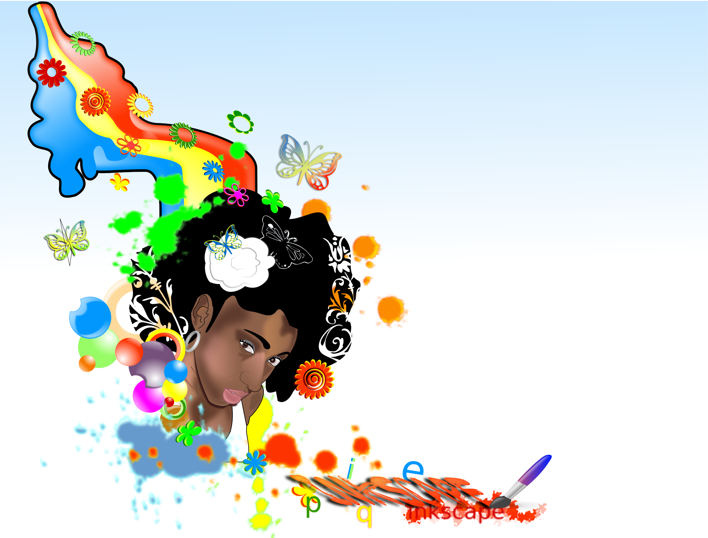 Black-Woman-rainbow by ikebanto