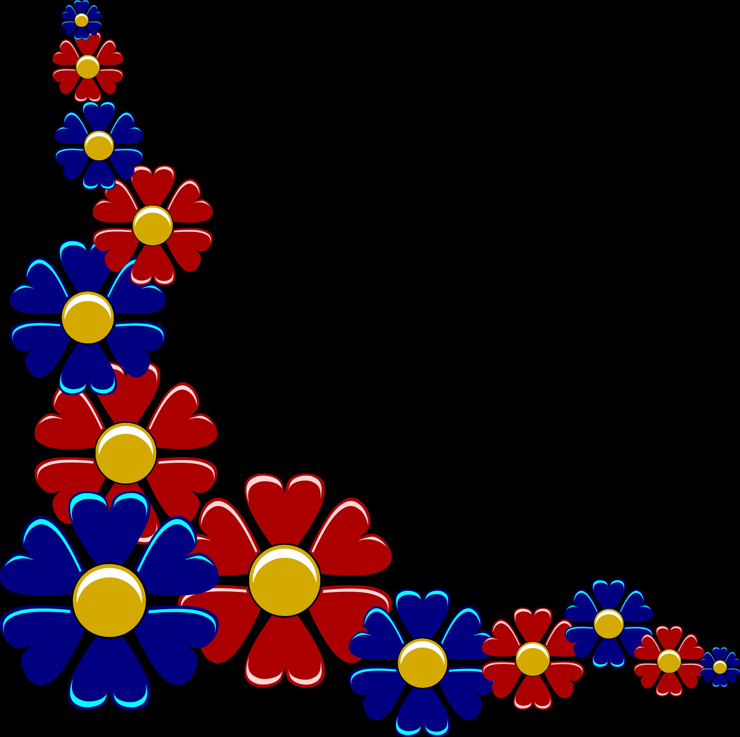 Line Art Flower Corner : Clipart flower corner