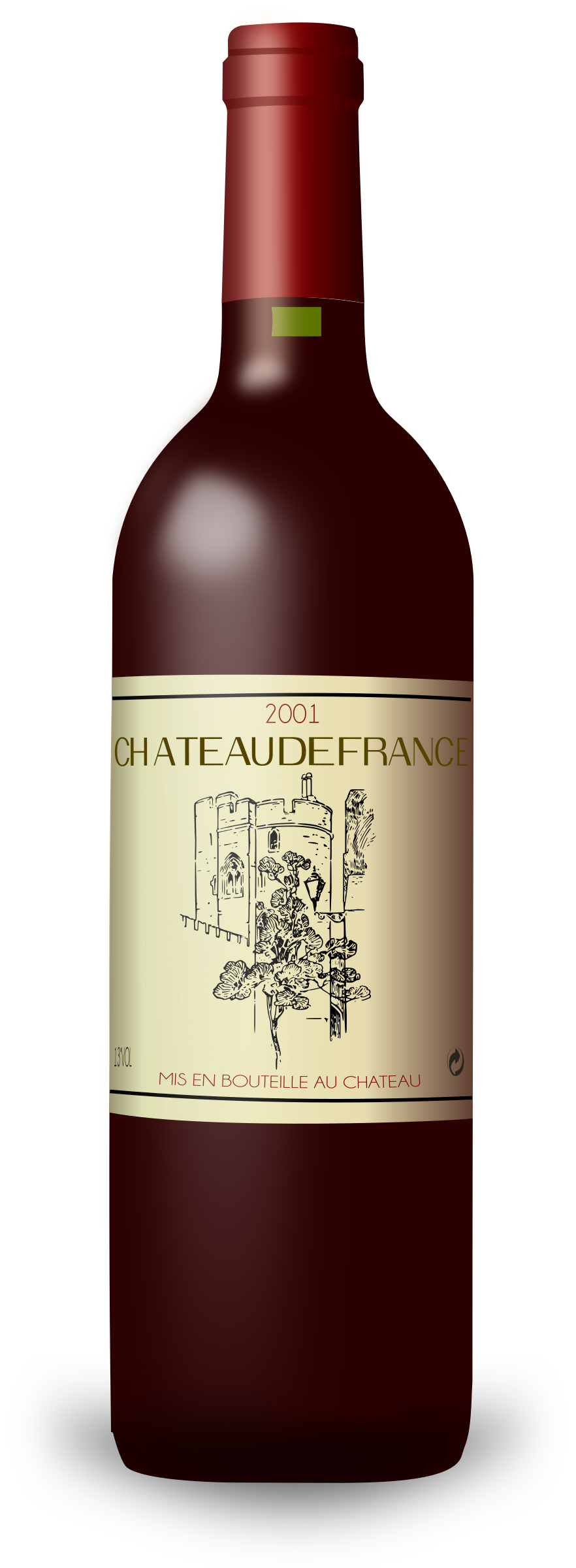 French Wine Bordeaux Bottle by filtre