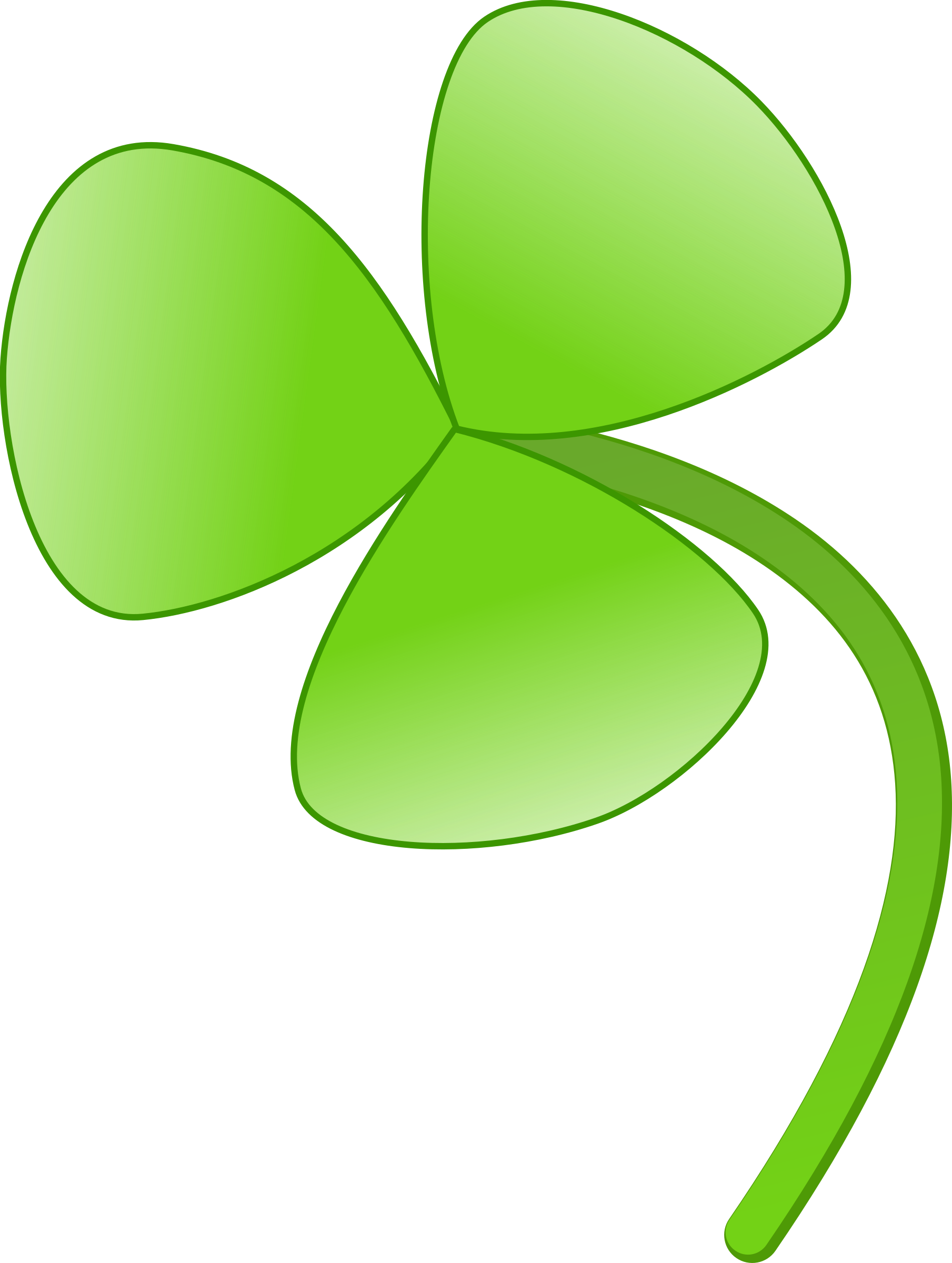three leaves clover by mireille