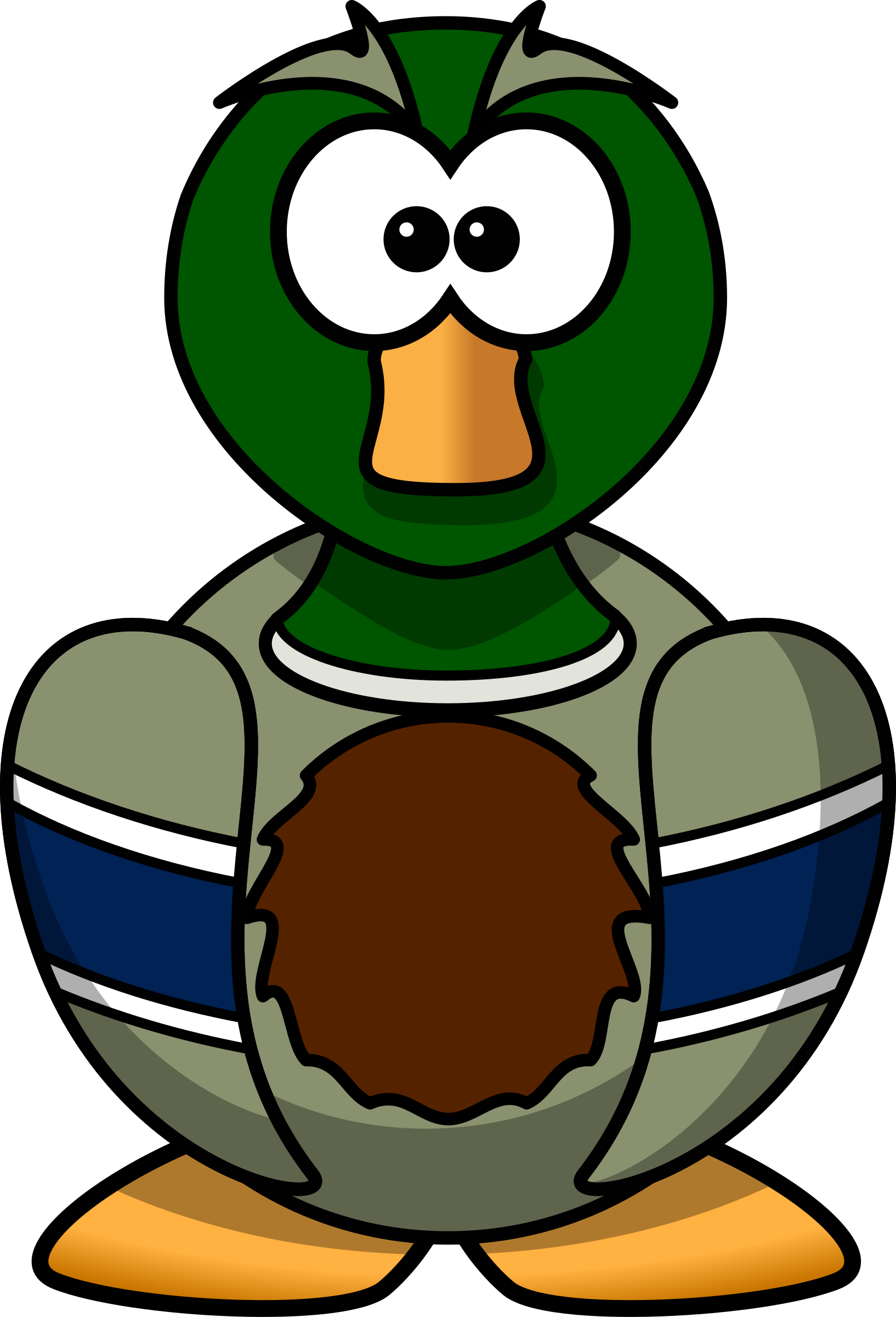 Cartoon Mallard by 14thWarrior