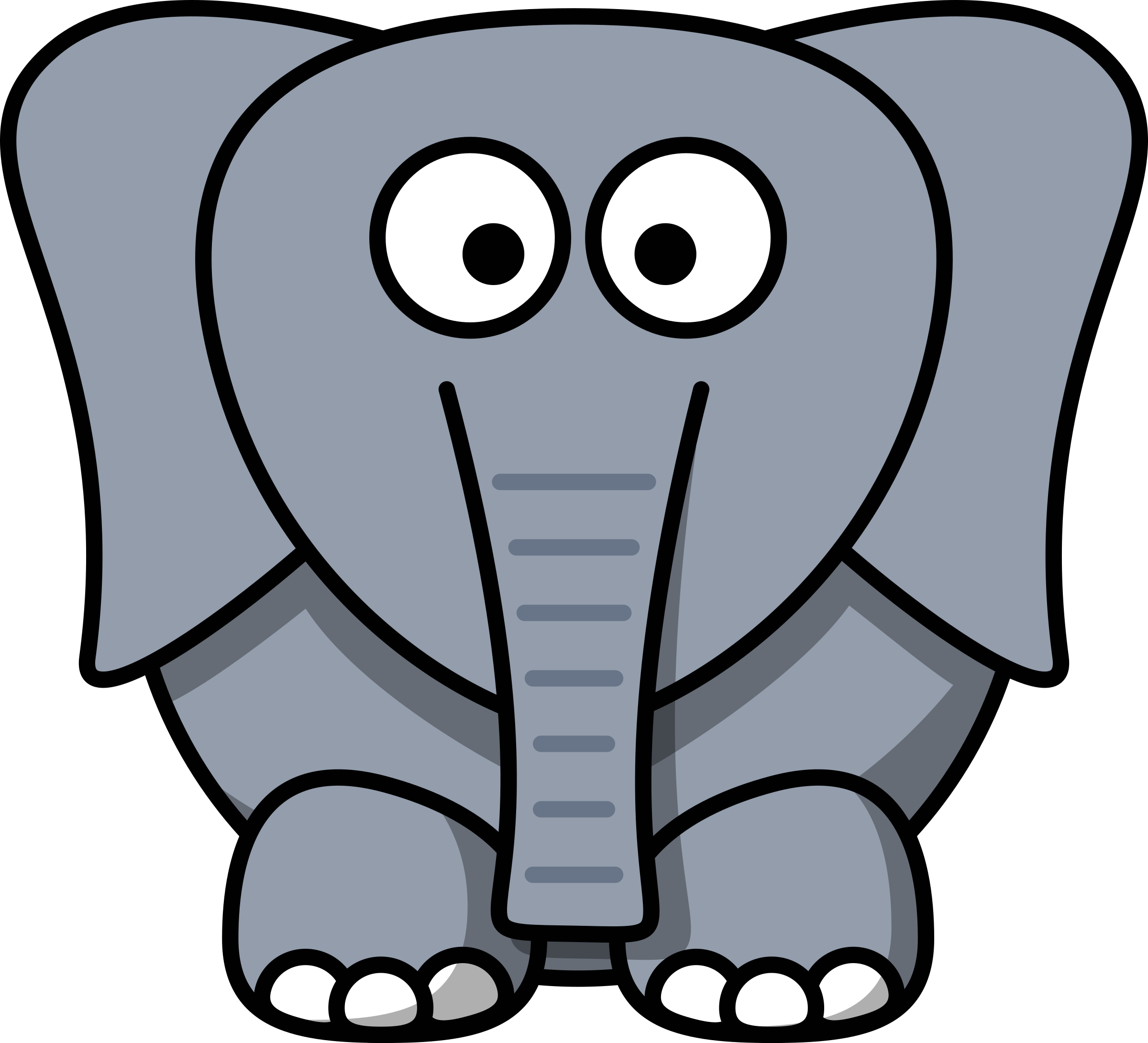 Cartoon Elephant by 14thWarrior