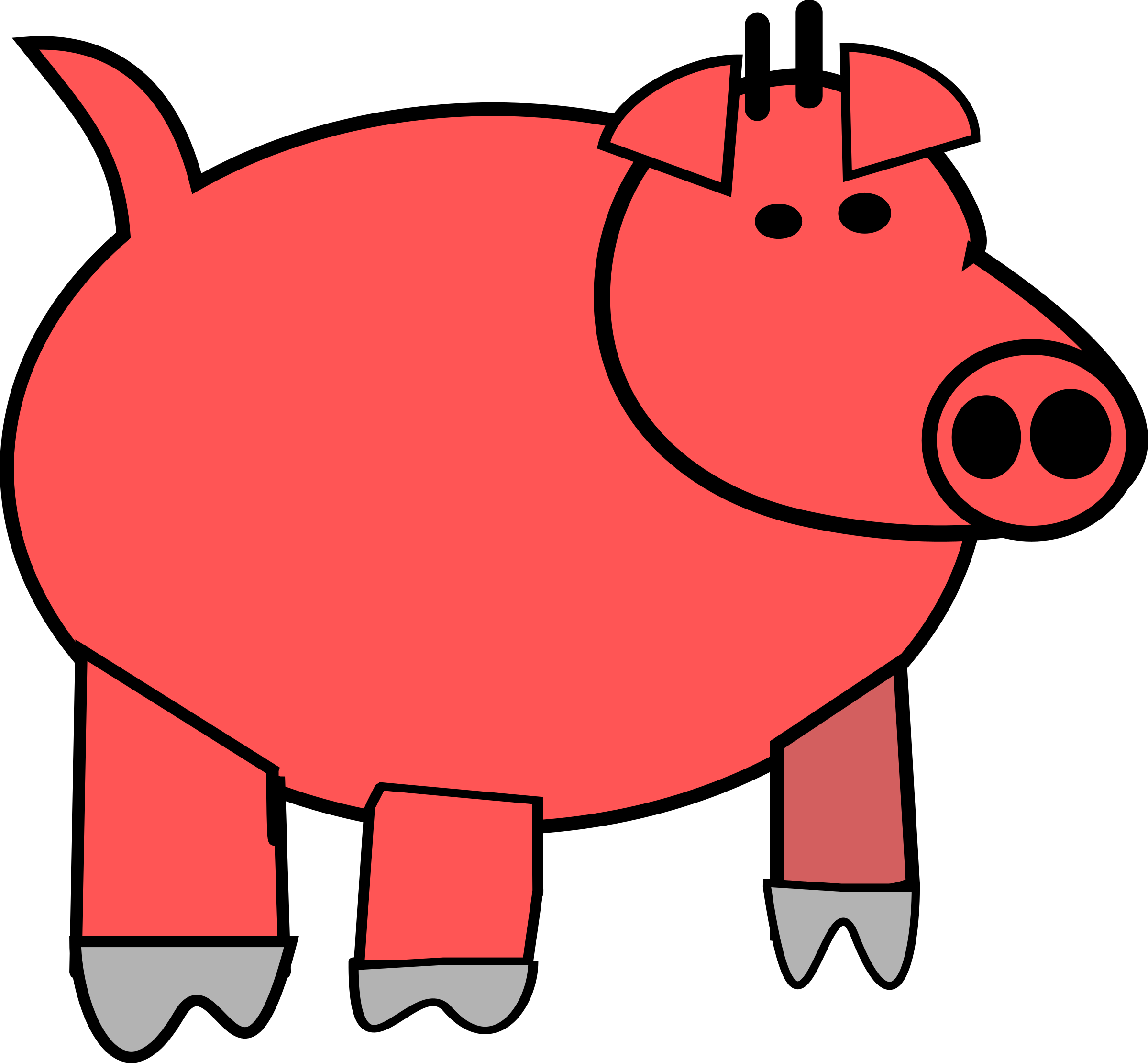 cartoon pig by PeterBrough