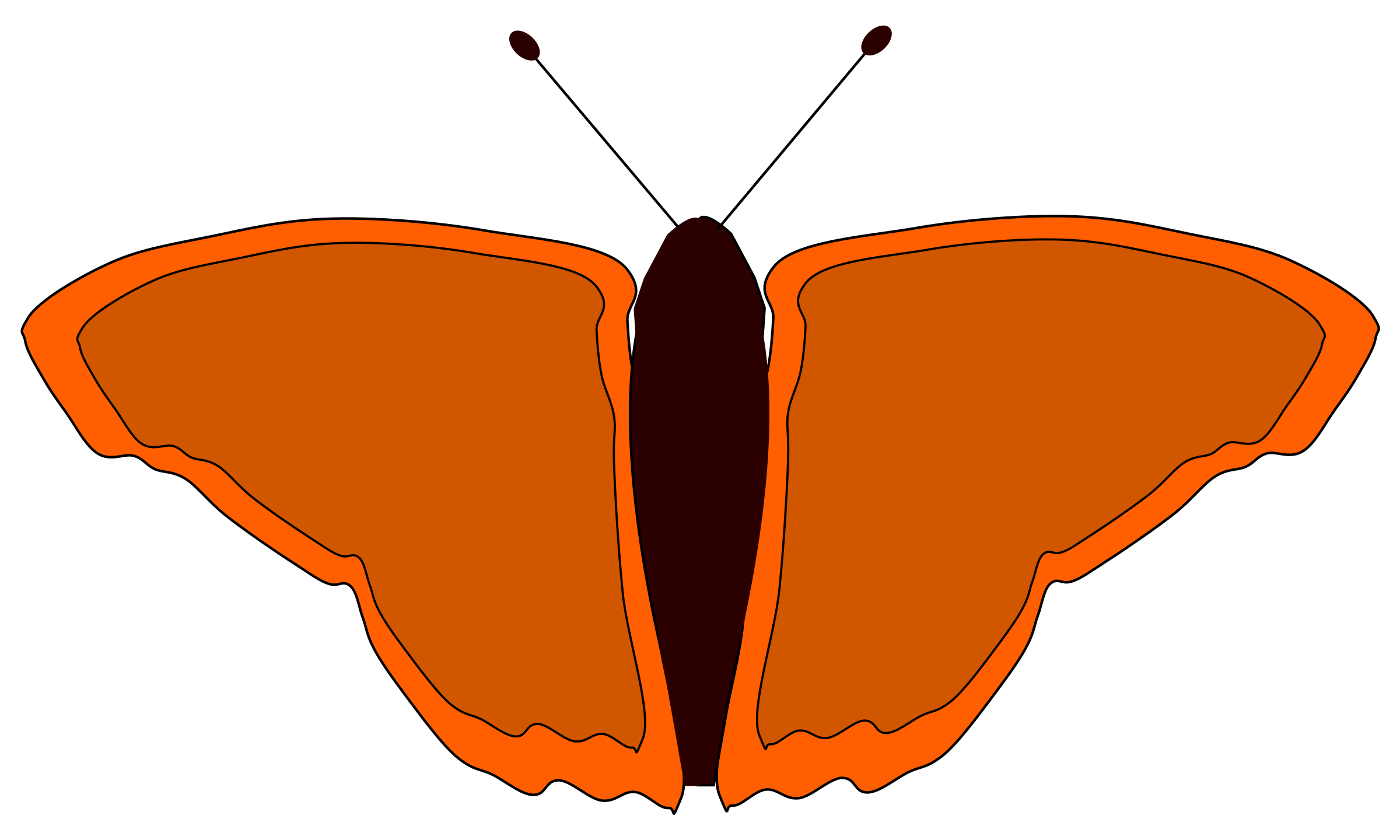 orange butterfly by redccshirt