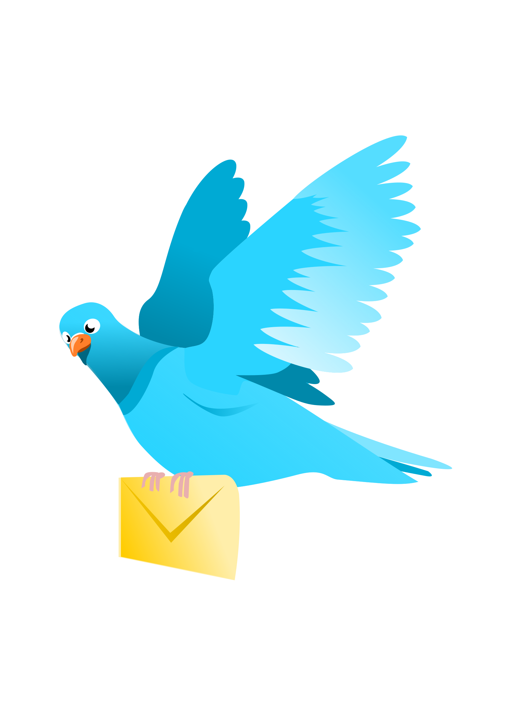 A Flying Pigeon delivering a message by wildchief