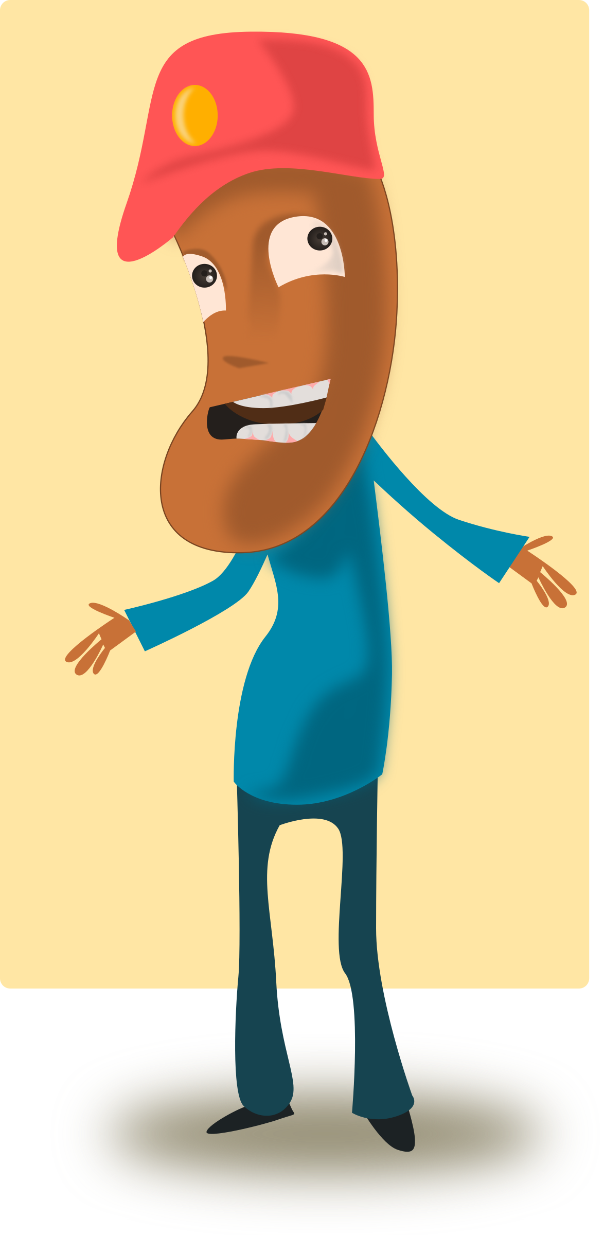 Cartoon Toffee Guy by kablam