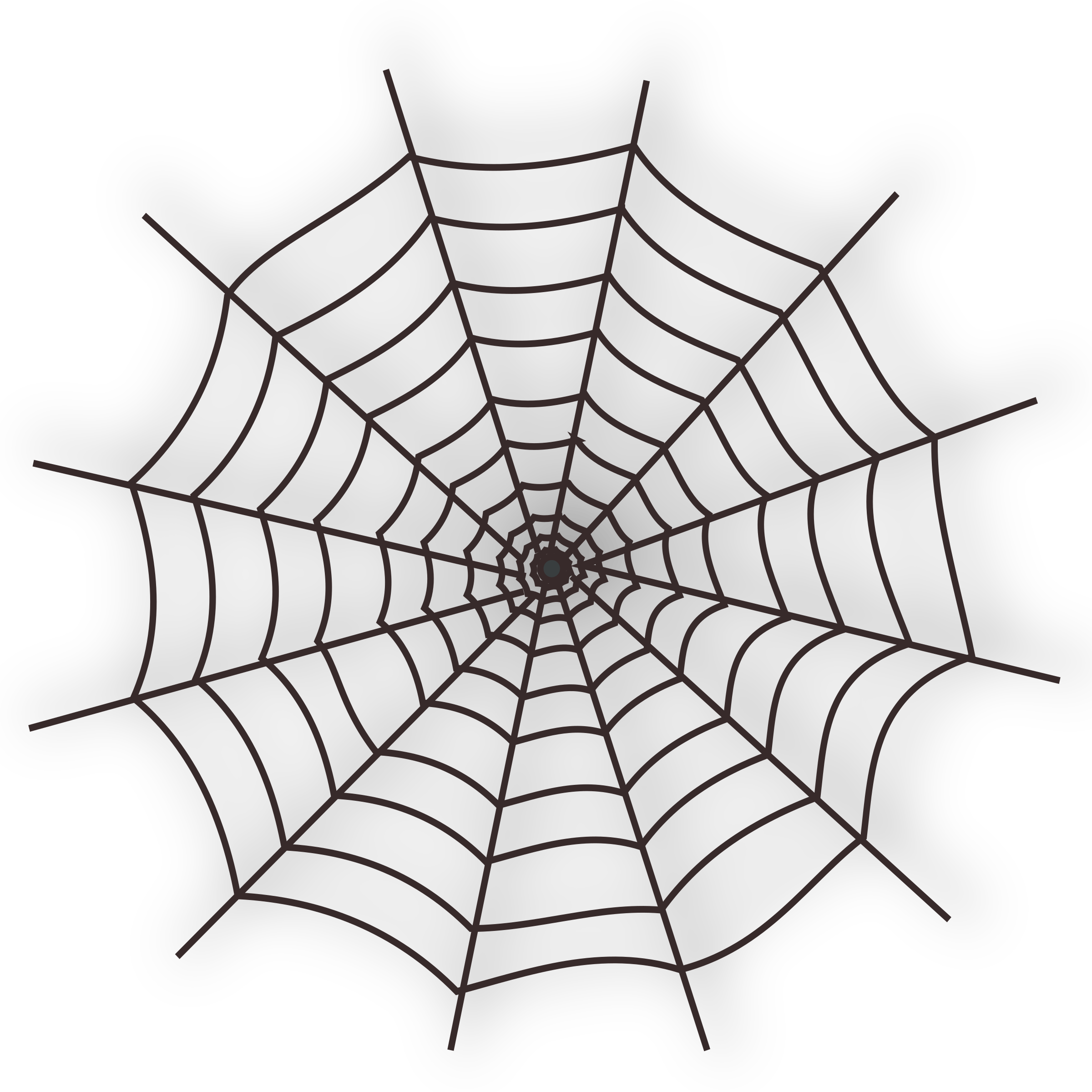 Clipart - Halloween Spider Web Icon