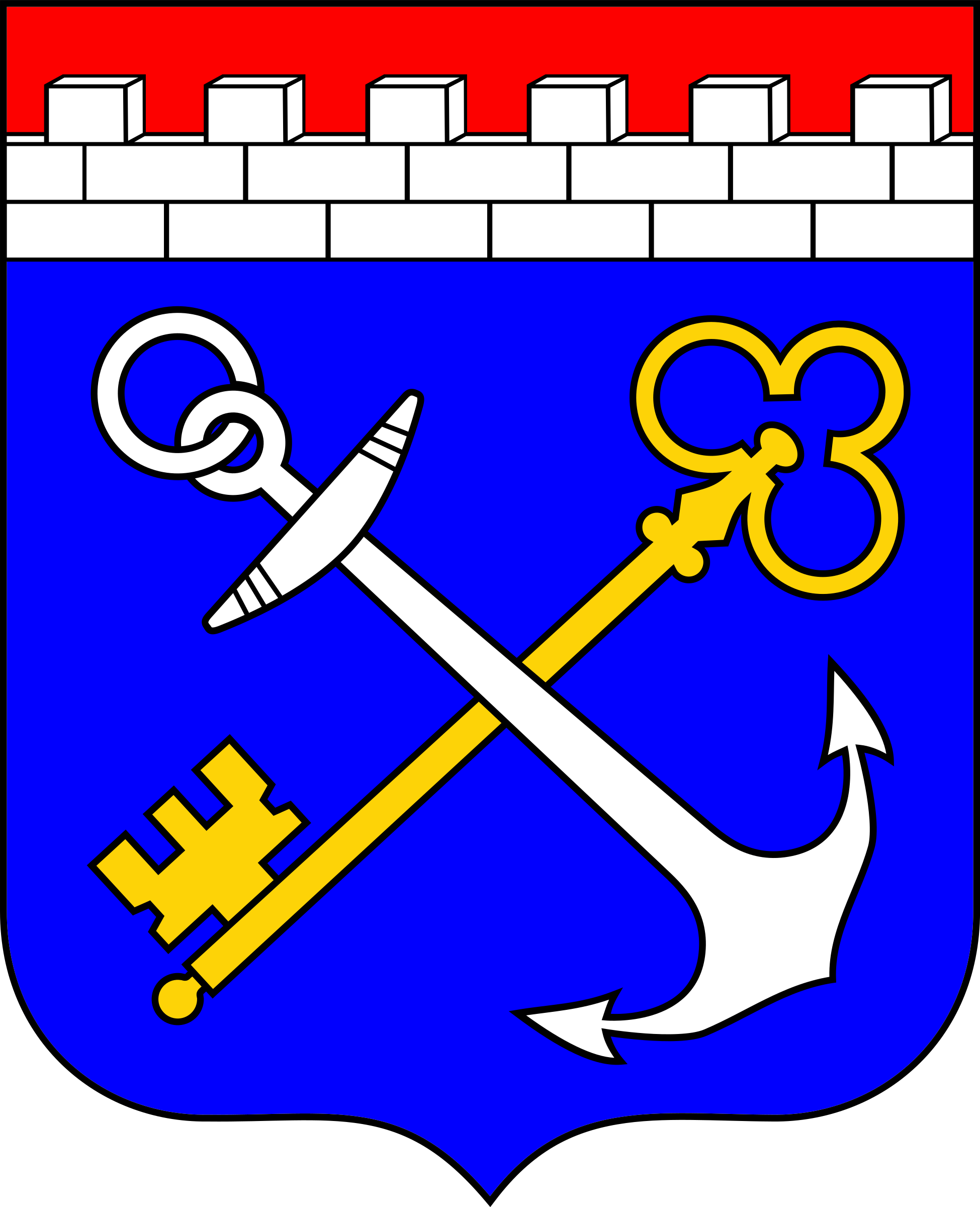 Coat of arms of Leningrad region by rones
