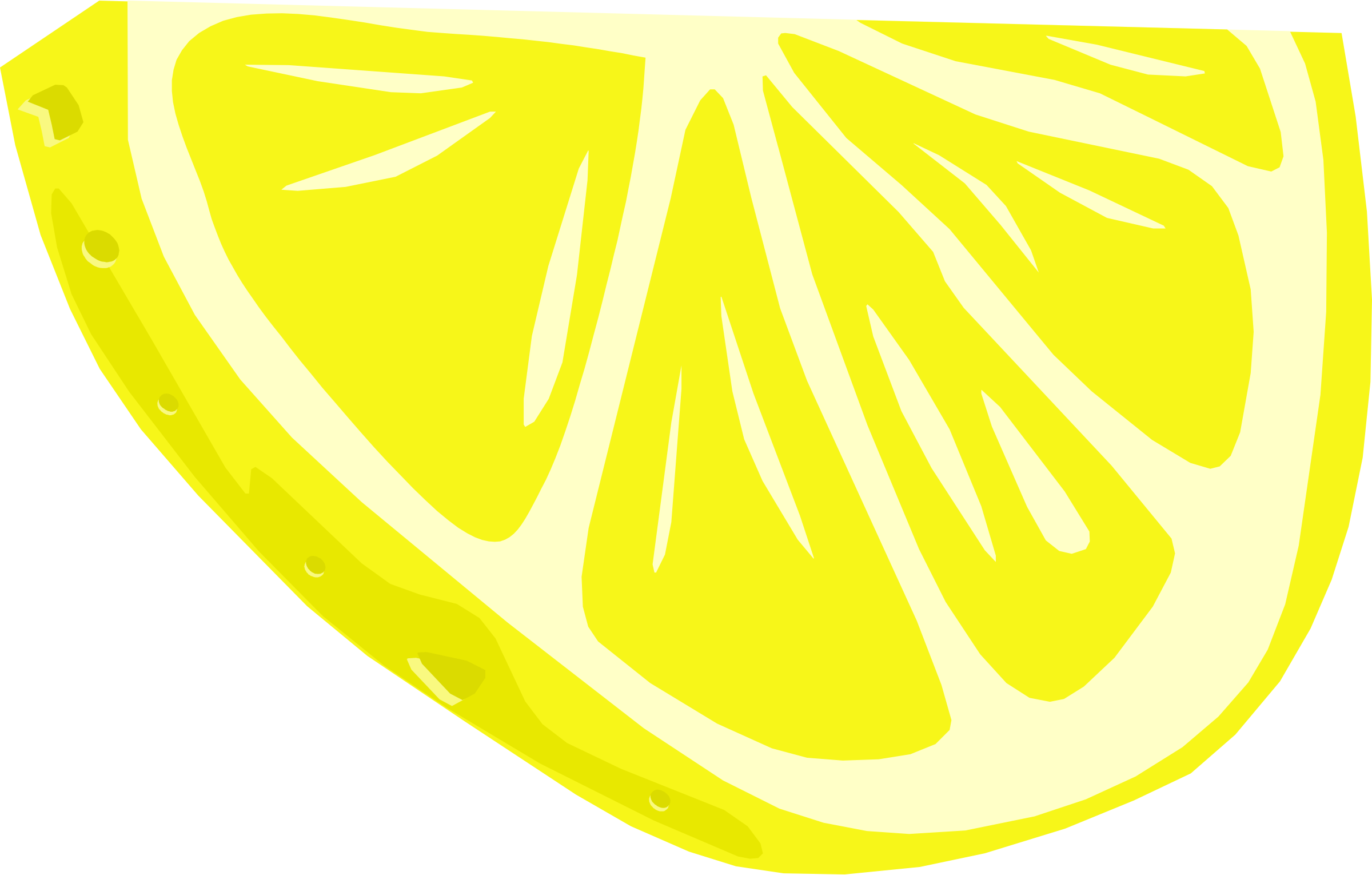 Clipart - Lemon Variations