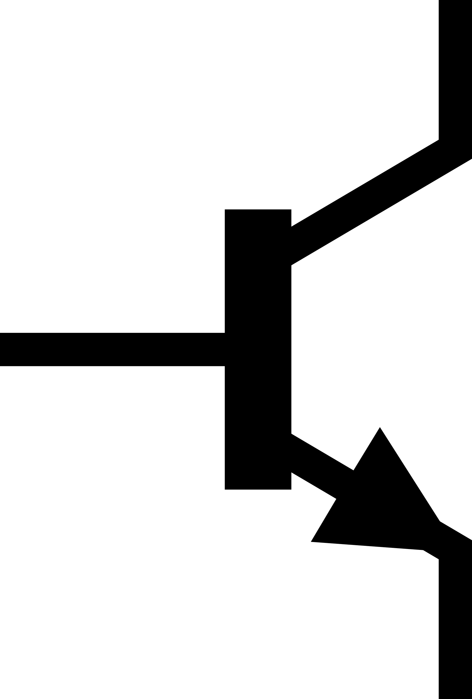 IEC NPN Transistor Symbol, alternate by vermeil