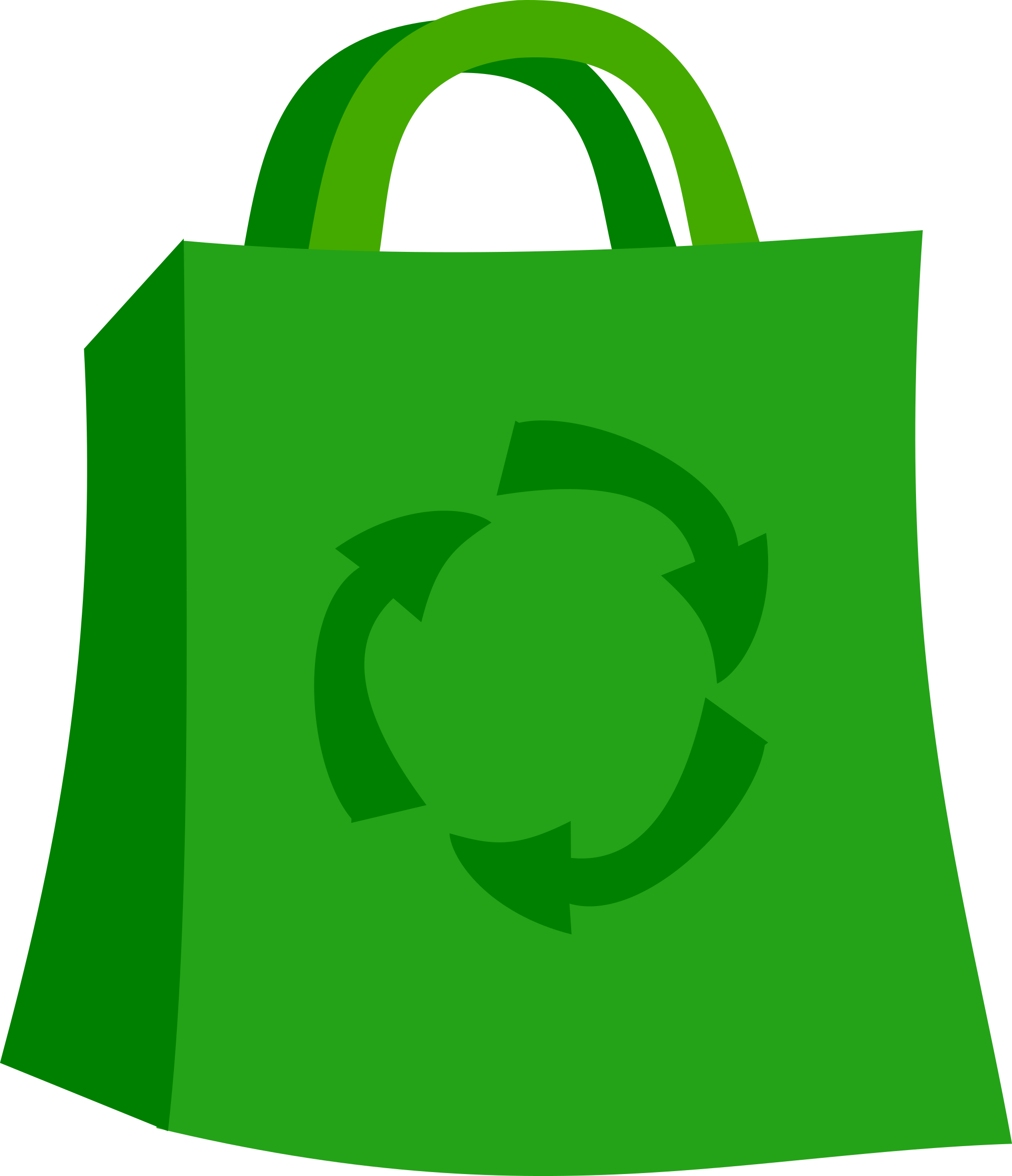 Green Shopping Bag by stevepetmonkey