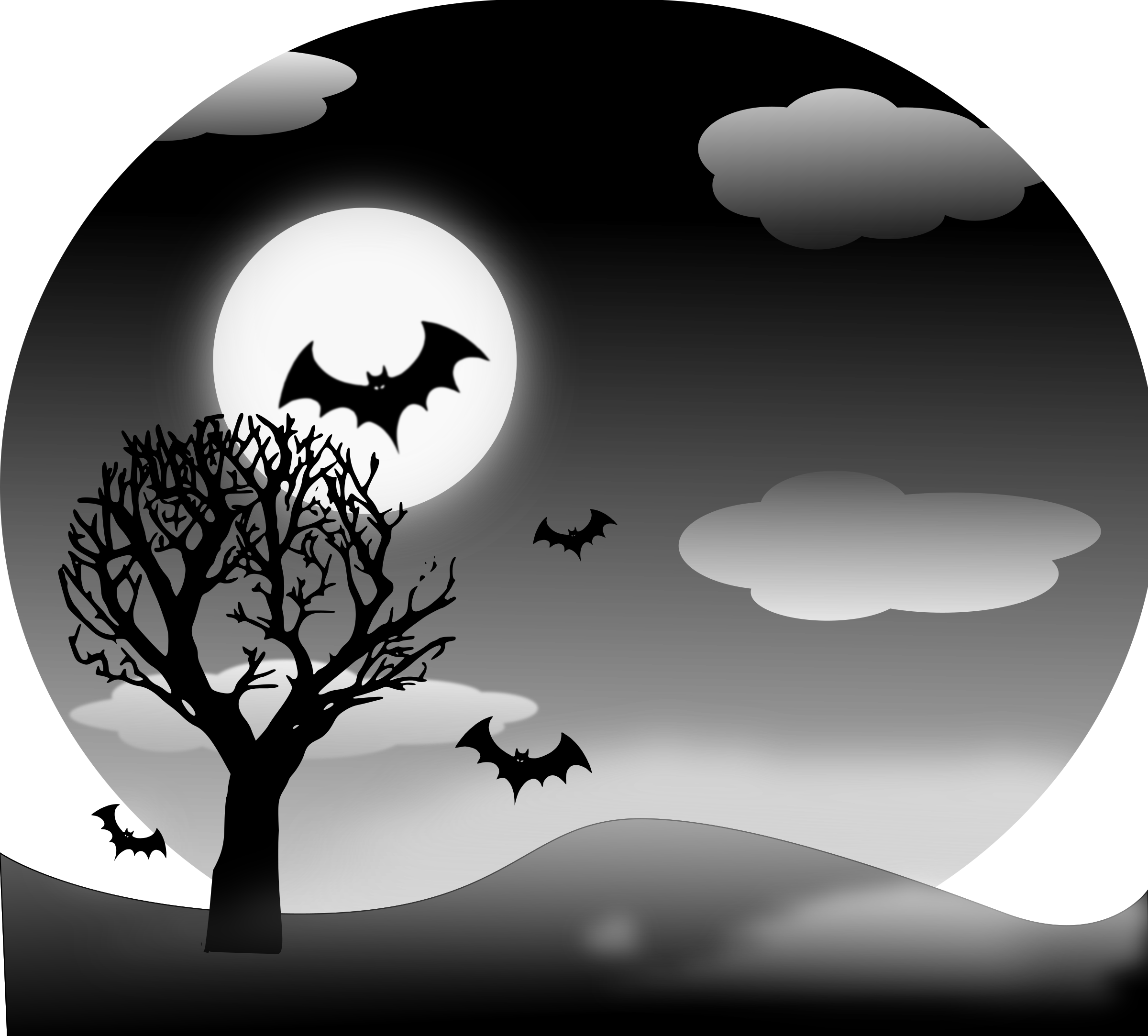 Halloween Landscape by inky2010
