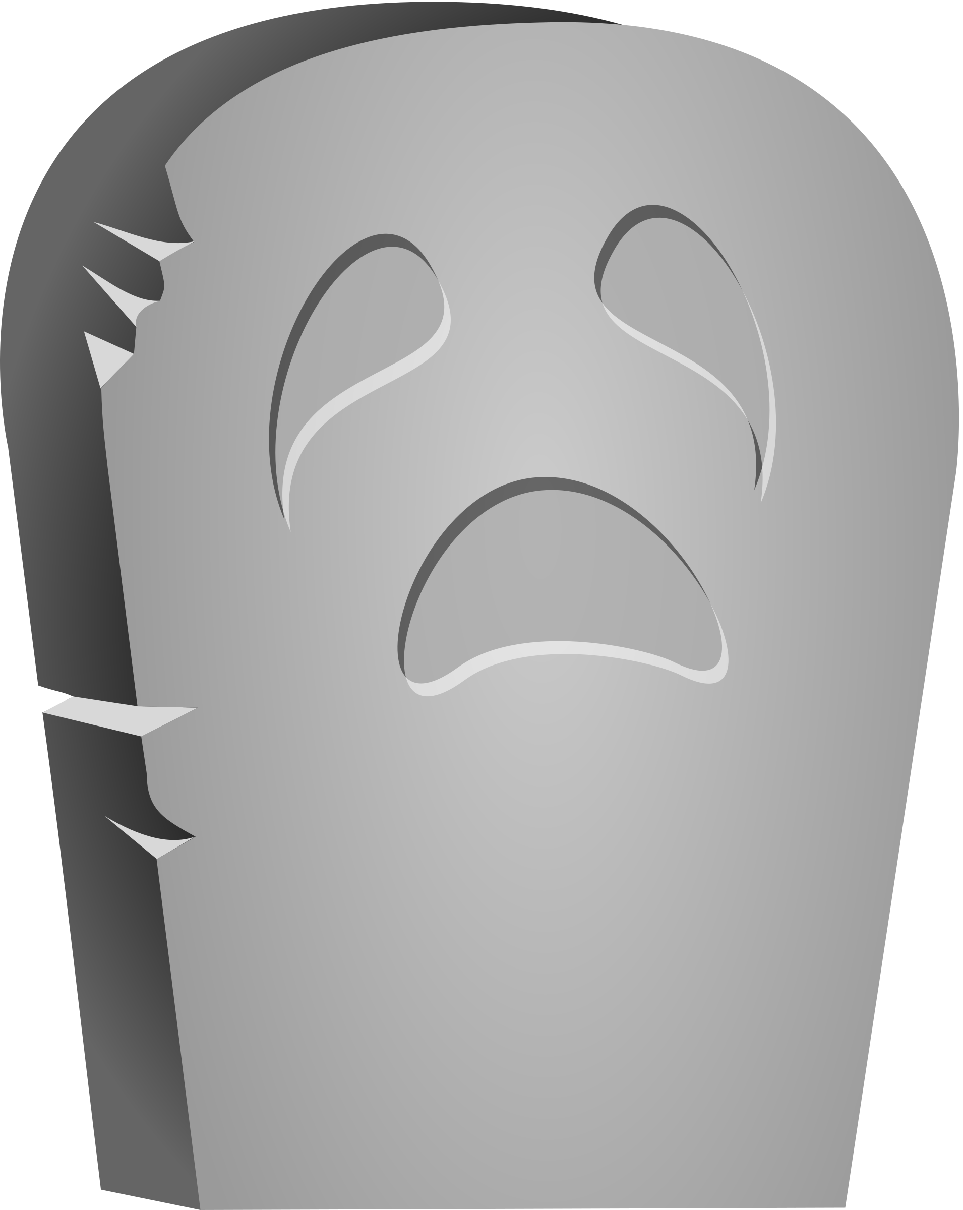 Halloween Tombstone Face by cgbug