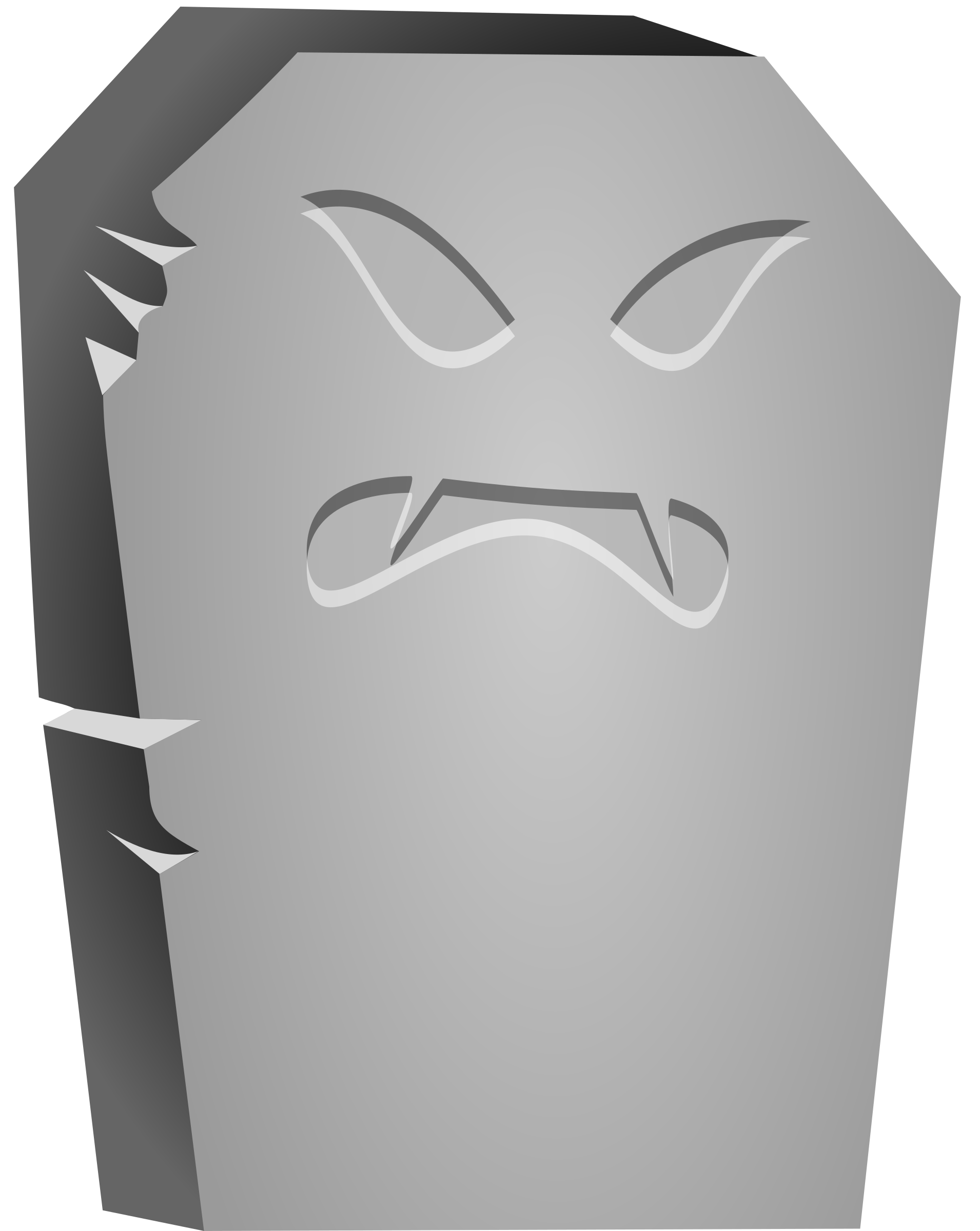 Halloween Tombstone Angry Face by cgbug