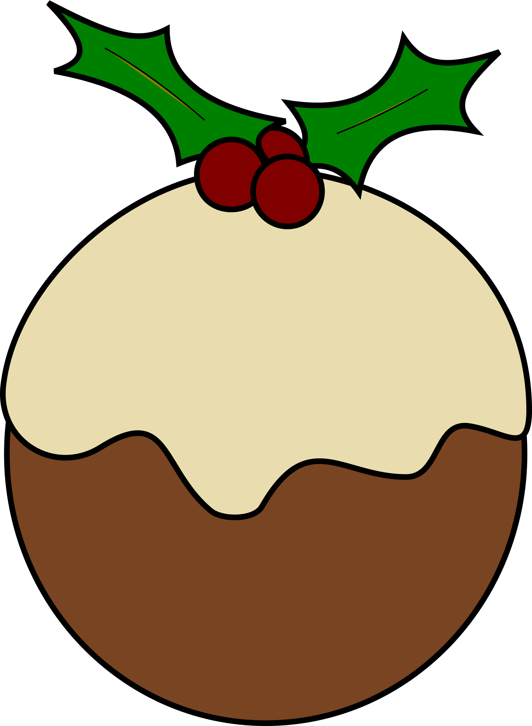 Christmas pudding by karderio