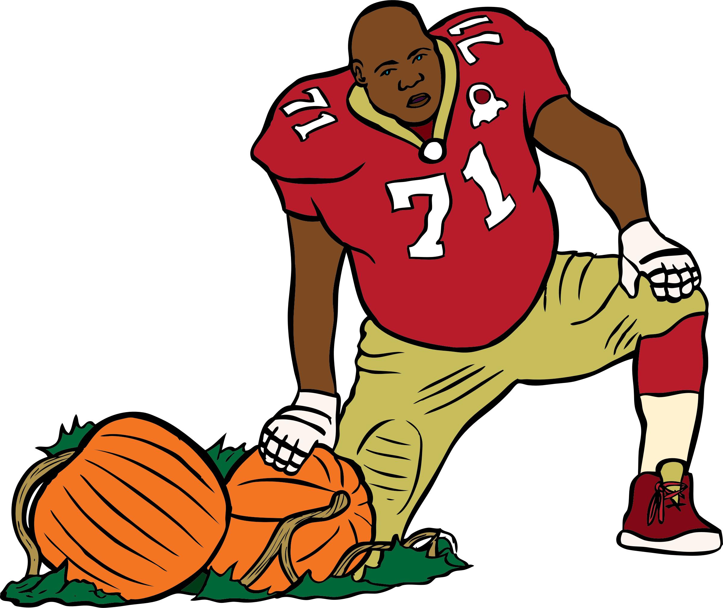 SF 49er with a pumpkin by PackardJennings