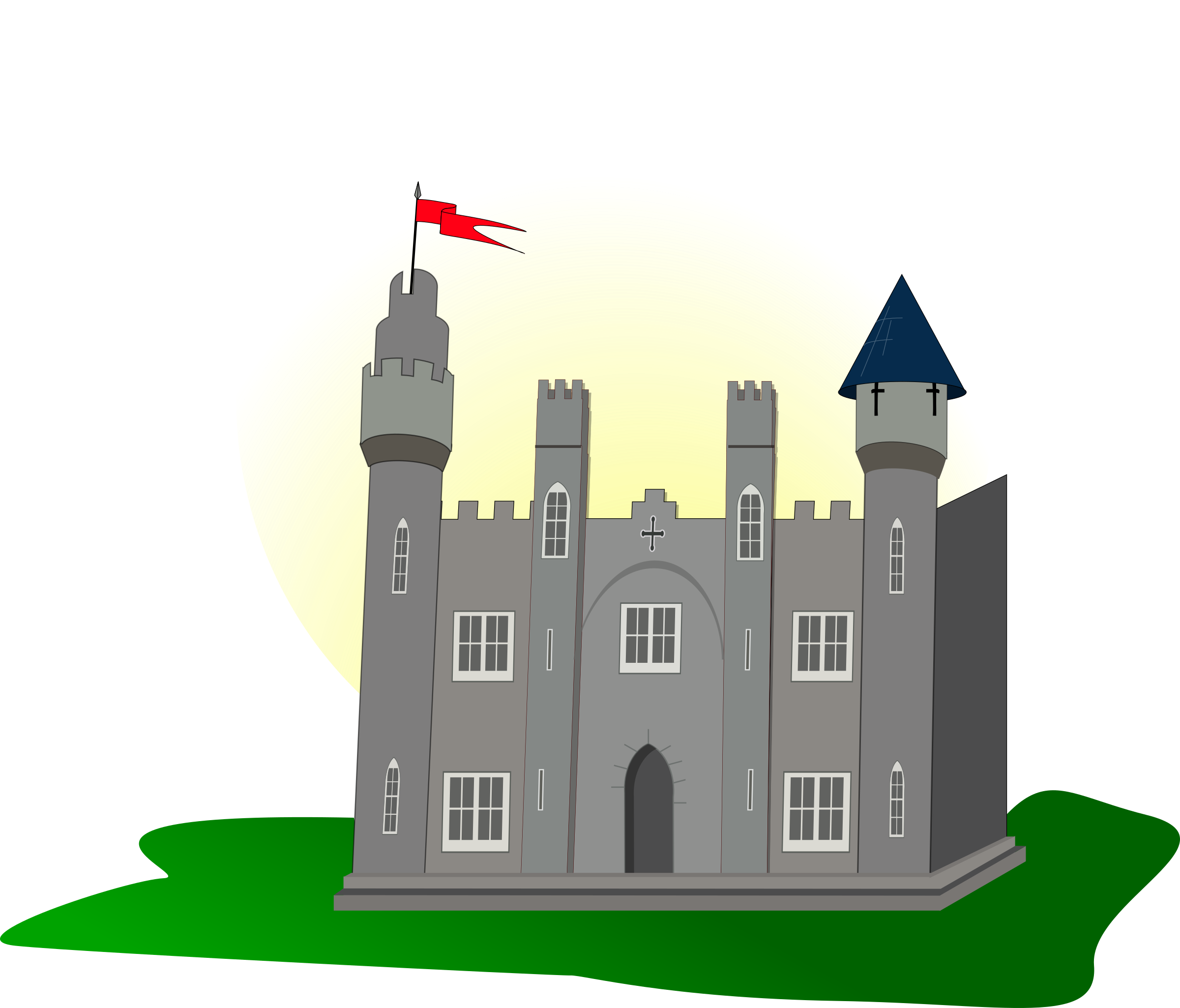 Castle with flag by obi