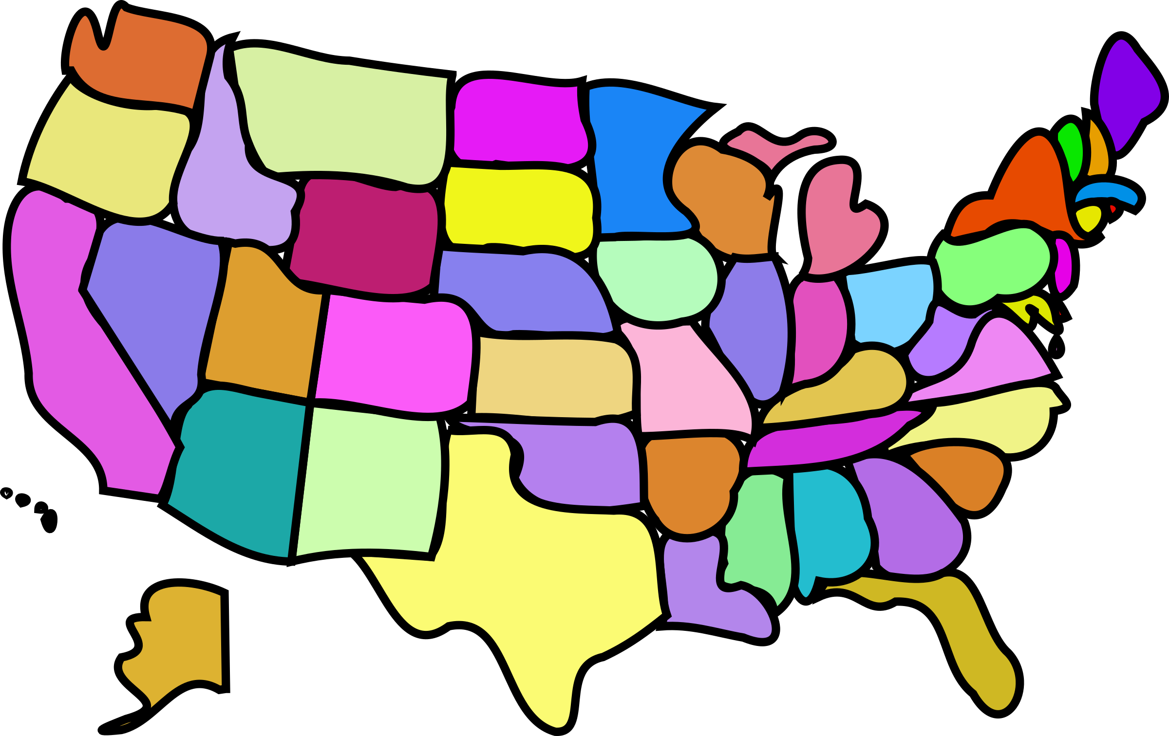 U.S. Map, Cartoony by bnielsen