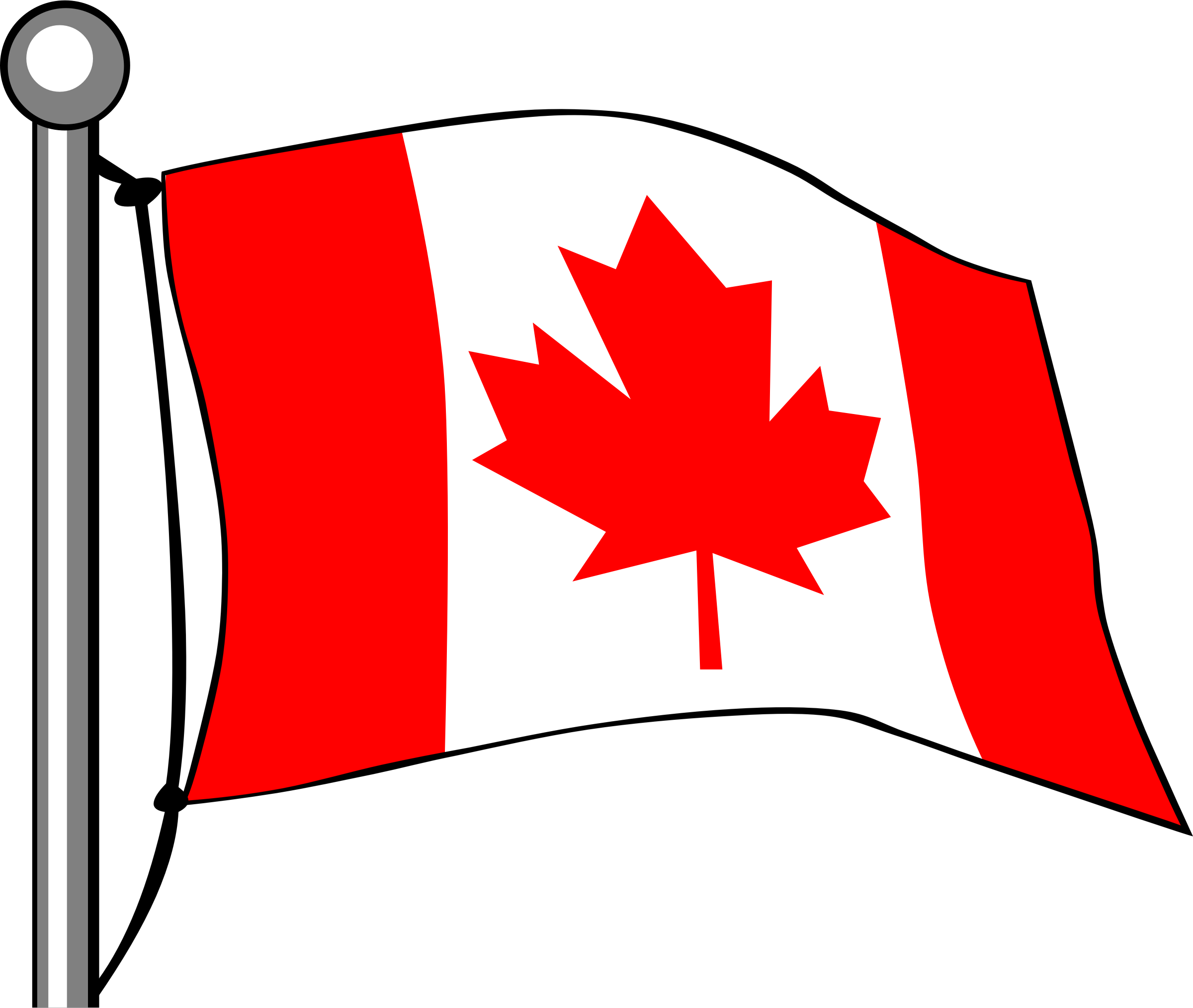 clipart canada flag flying