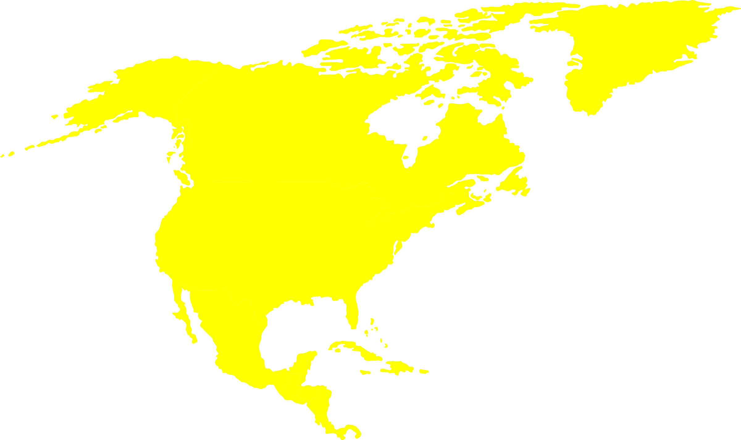 North-American continent by Iyo