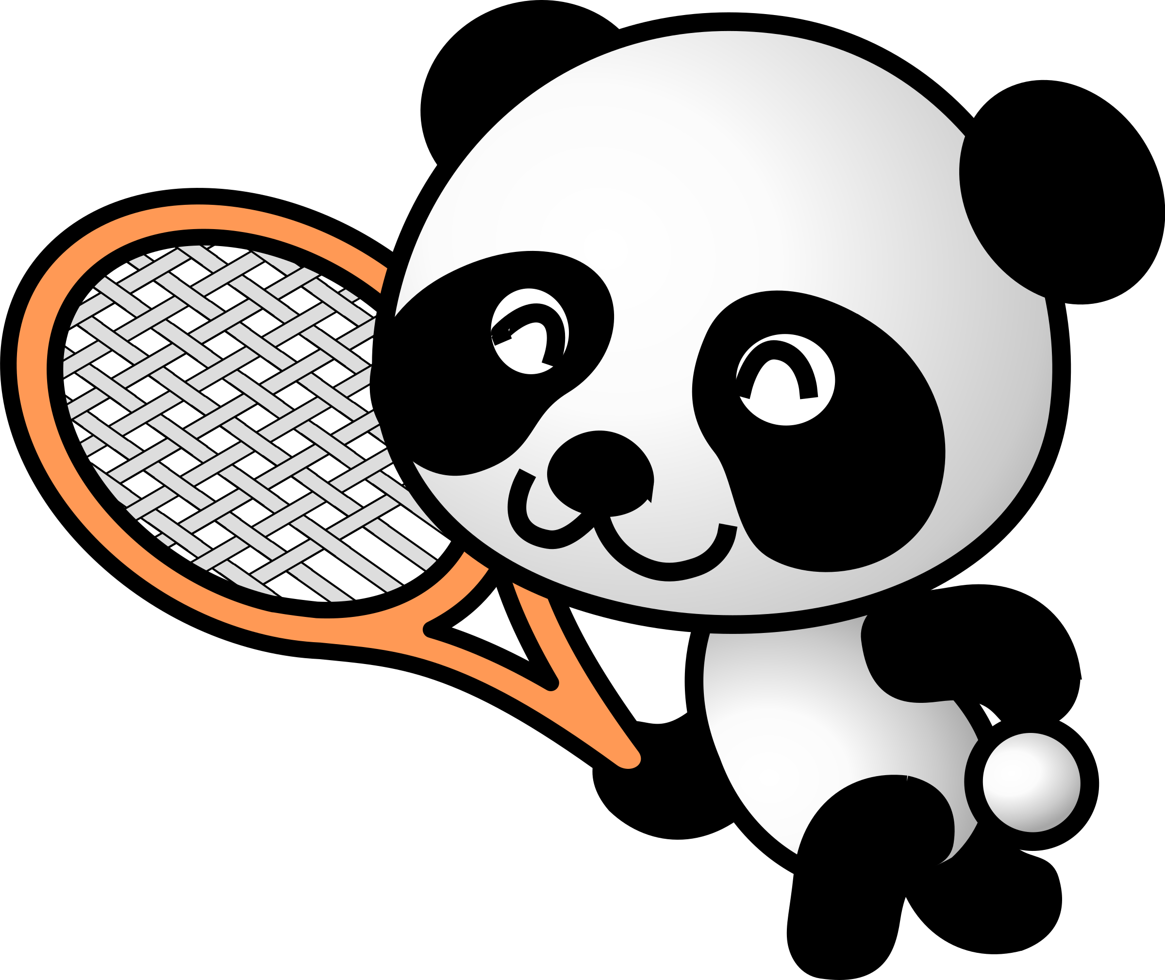 tennis panda by shu
