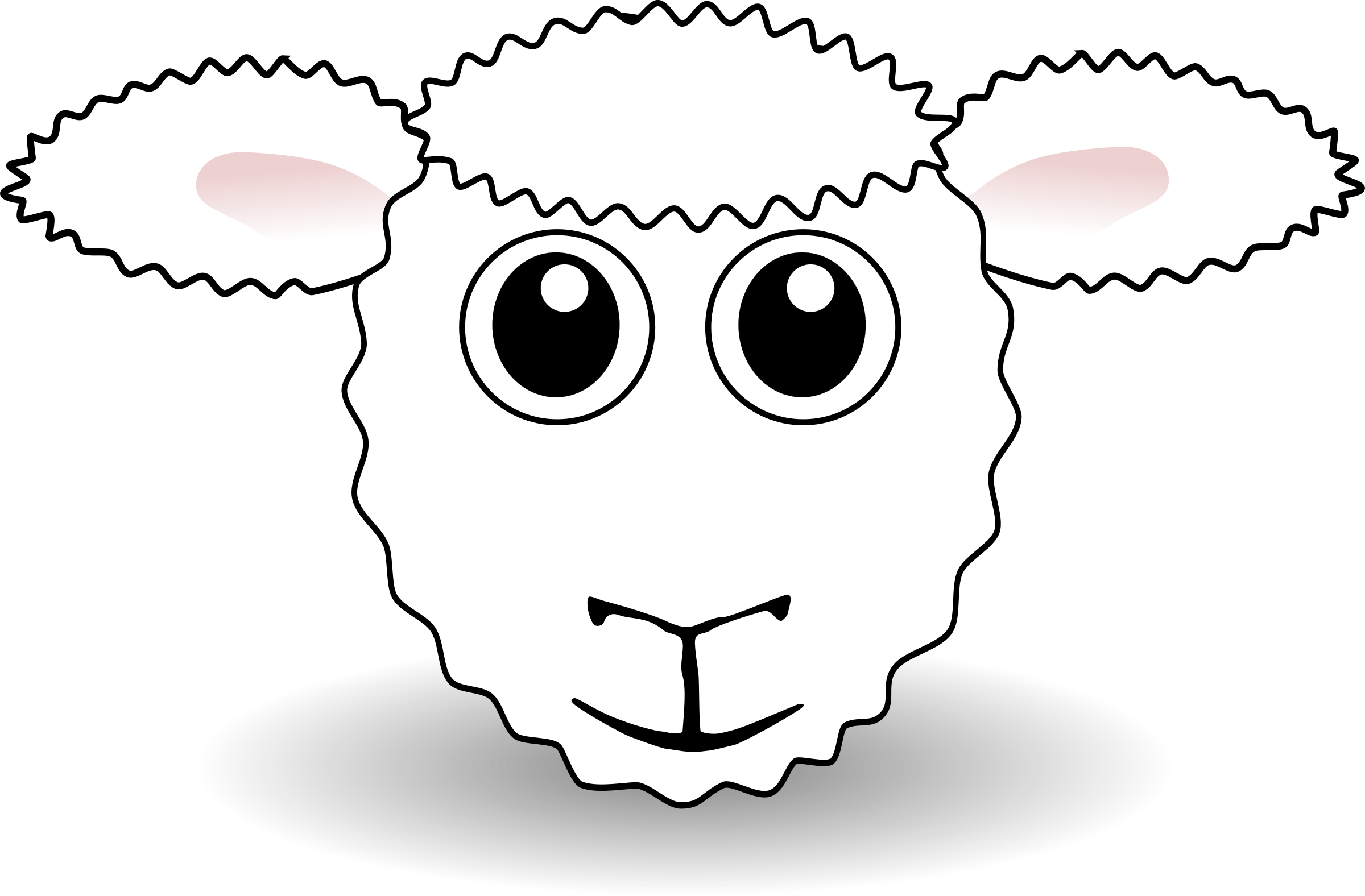 Funny Sheep Face White Cartoon by palomaironique