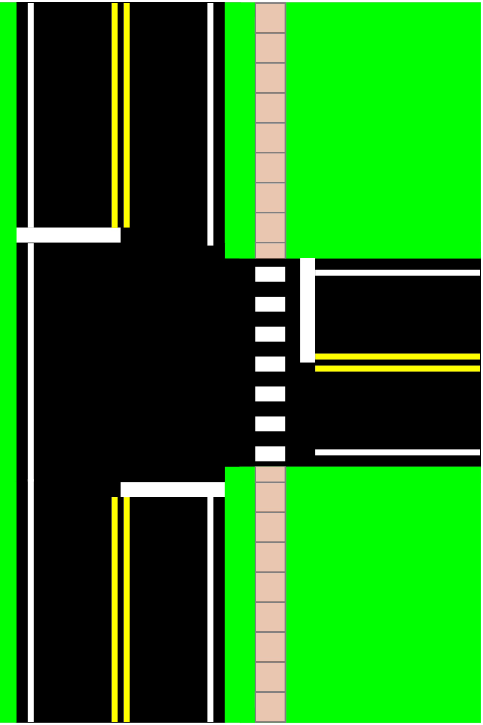 Clipart - Three Way Intersection