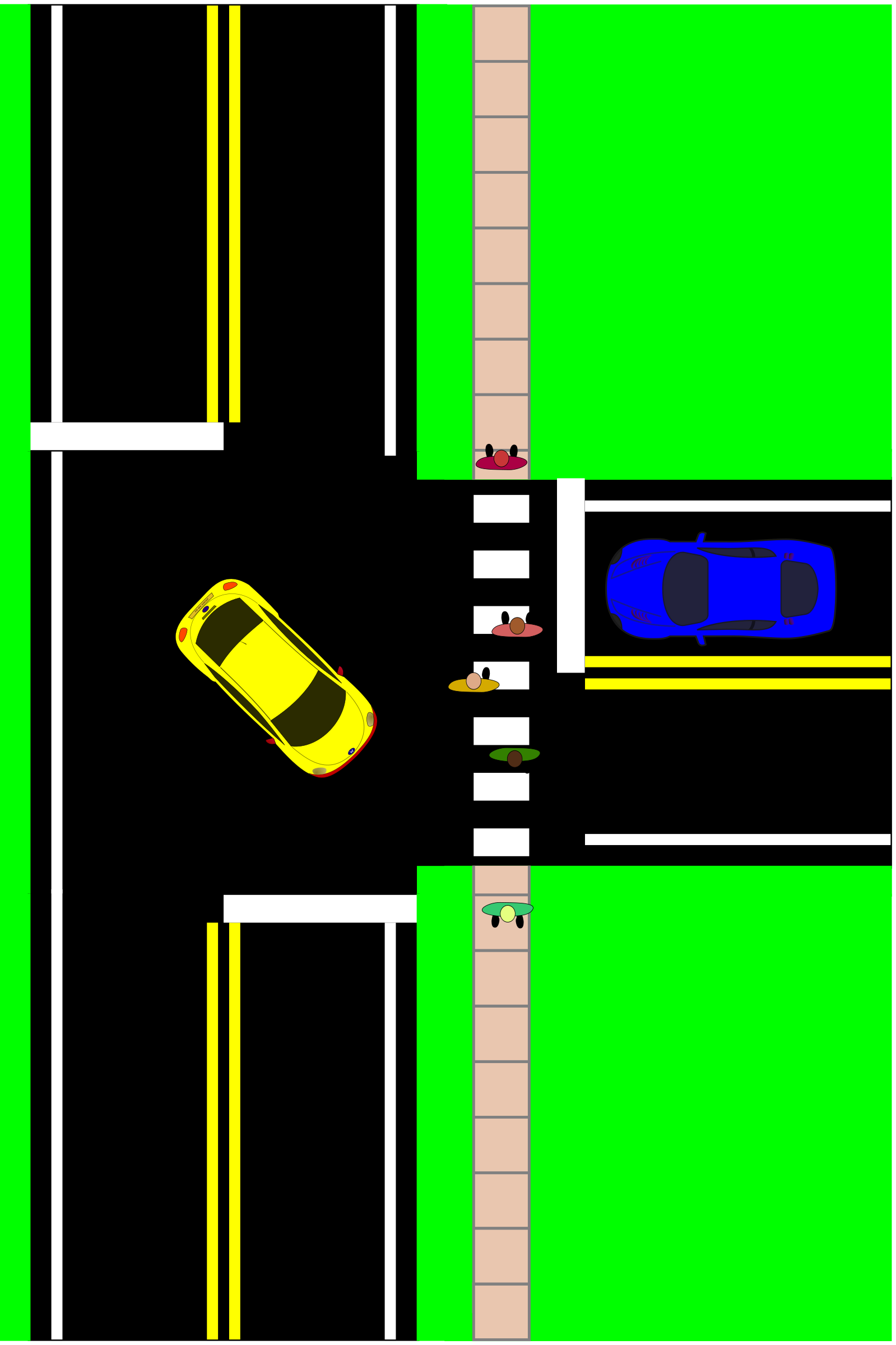 Three Way Intersection by mazeo