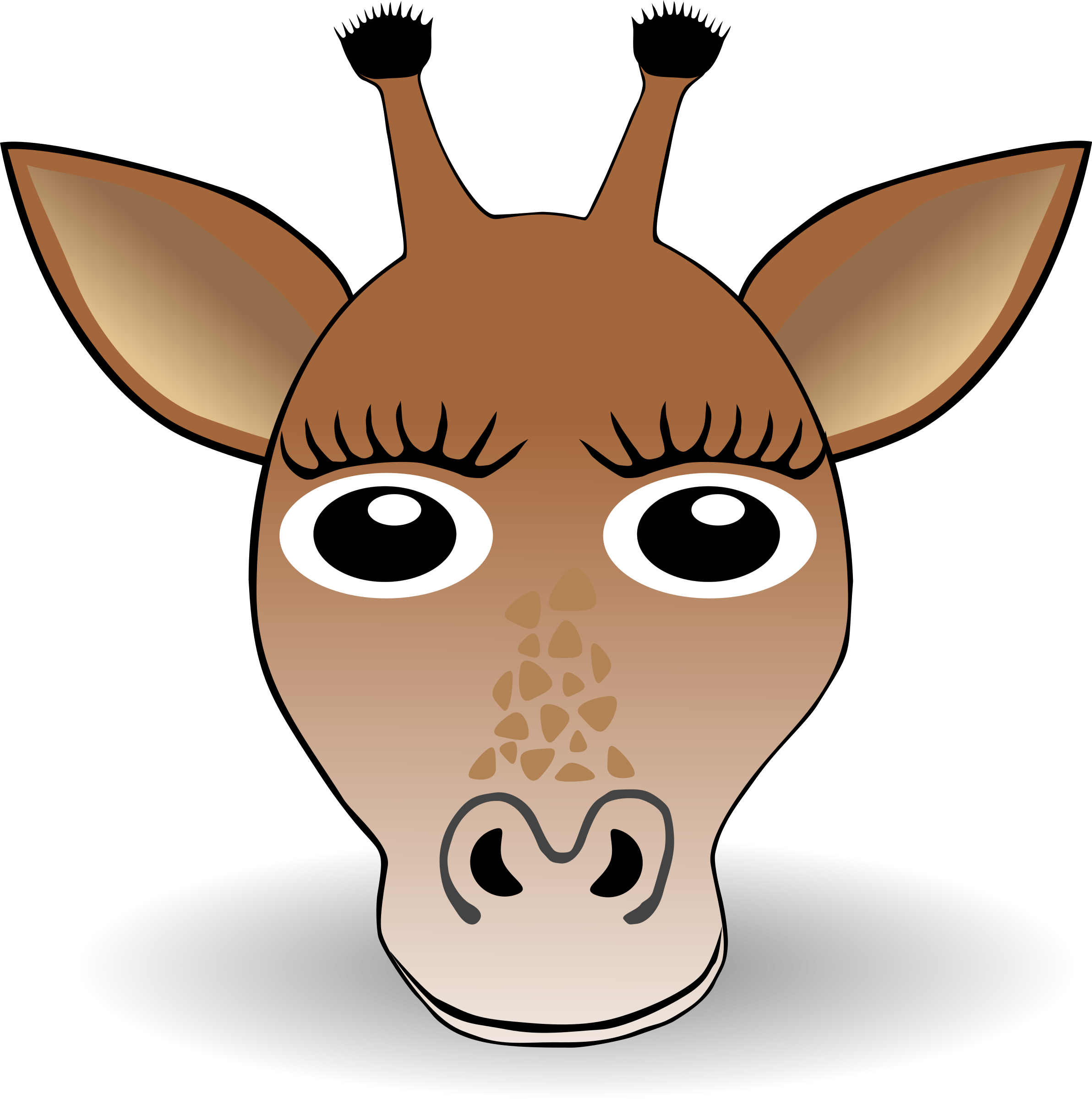 Clipart - Funny Giraffe Face Cartoon