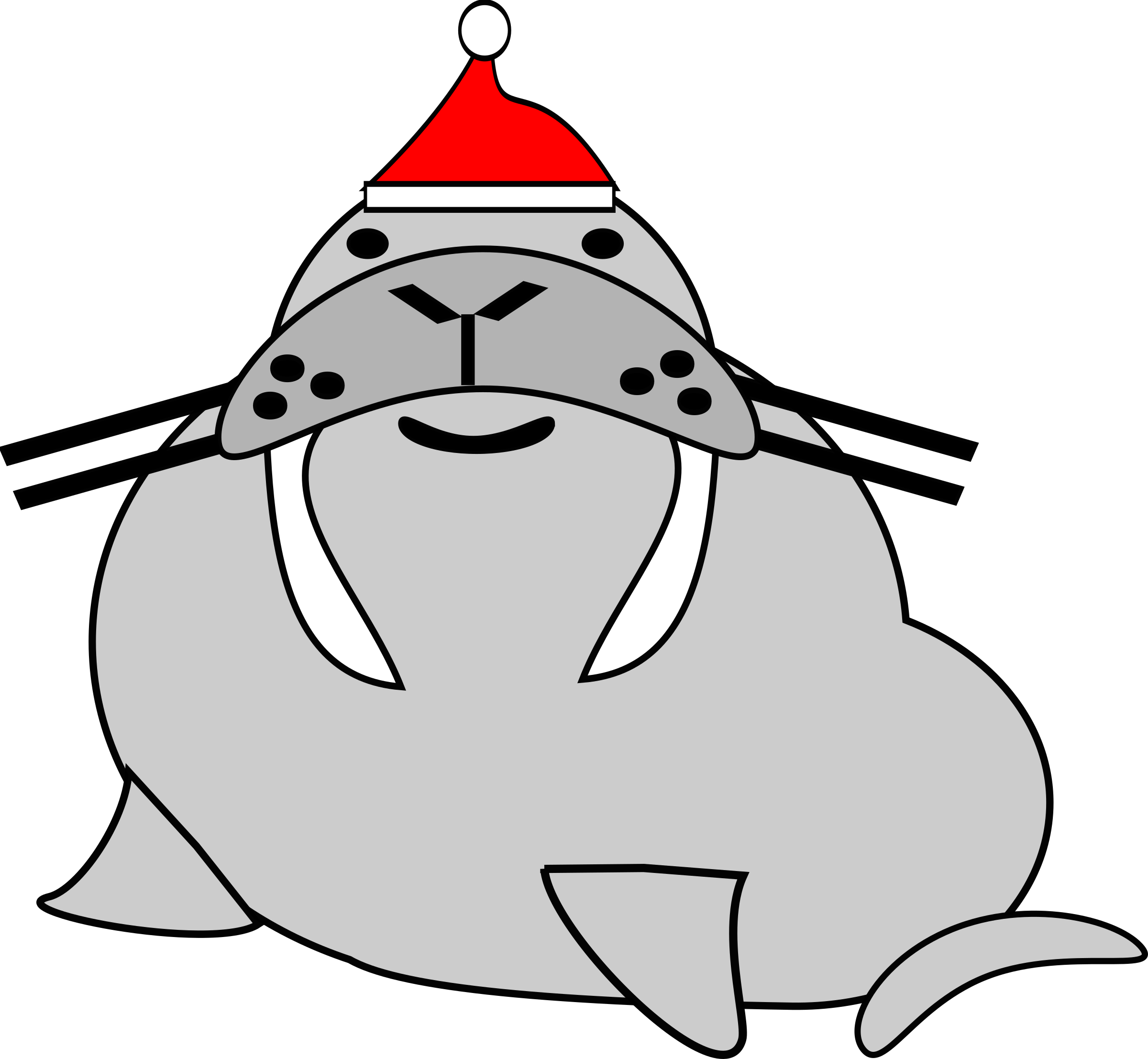 santa walrus by PeterBrough