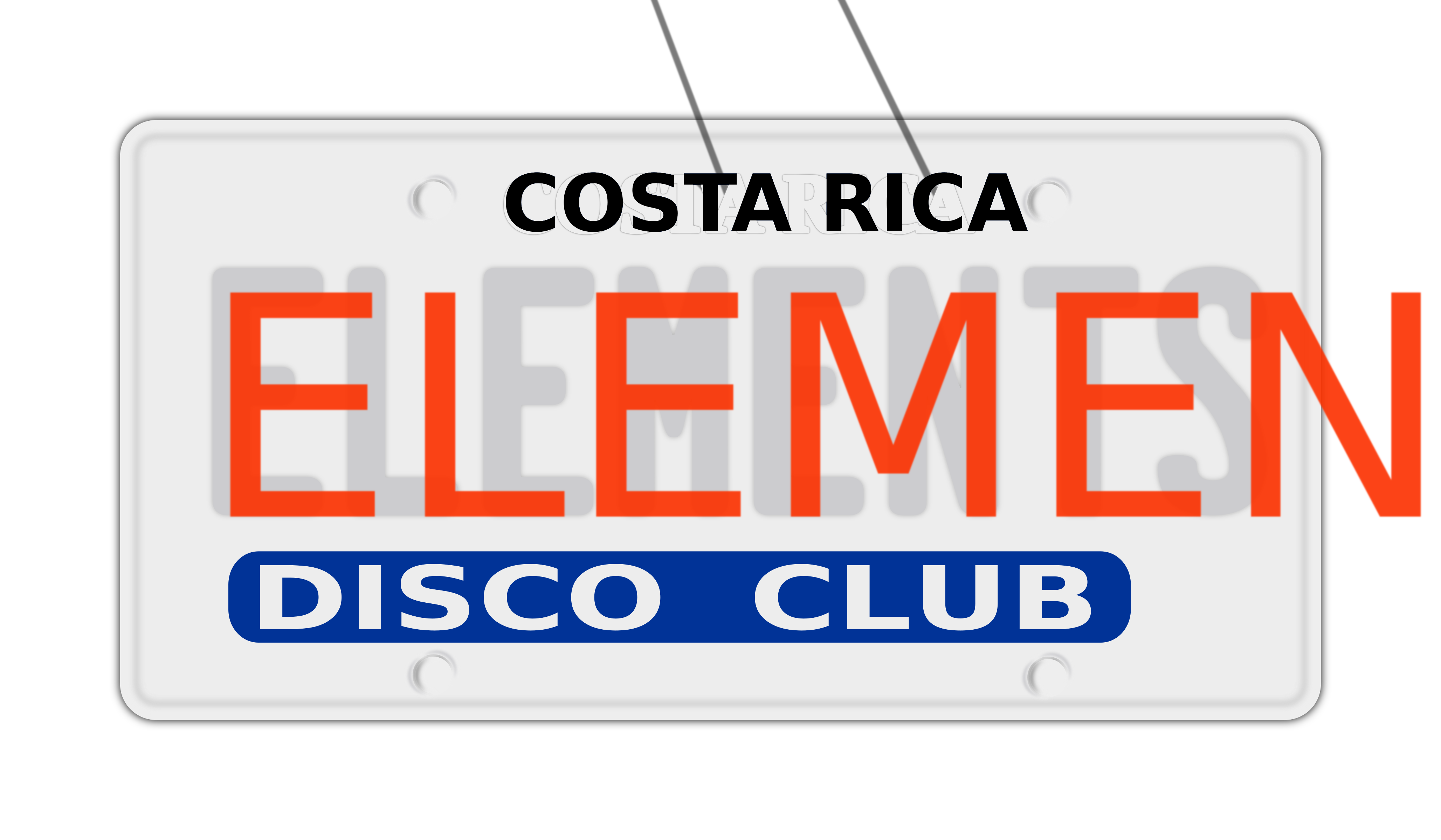 Placa de carro elements by bossiewilde