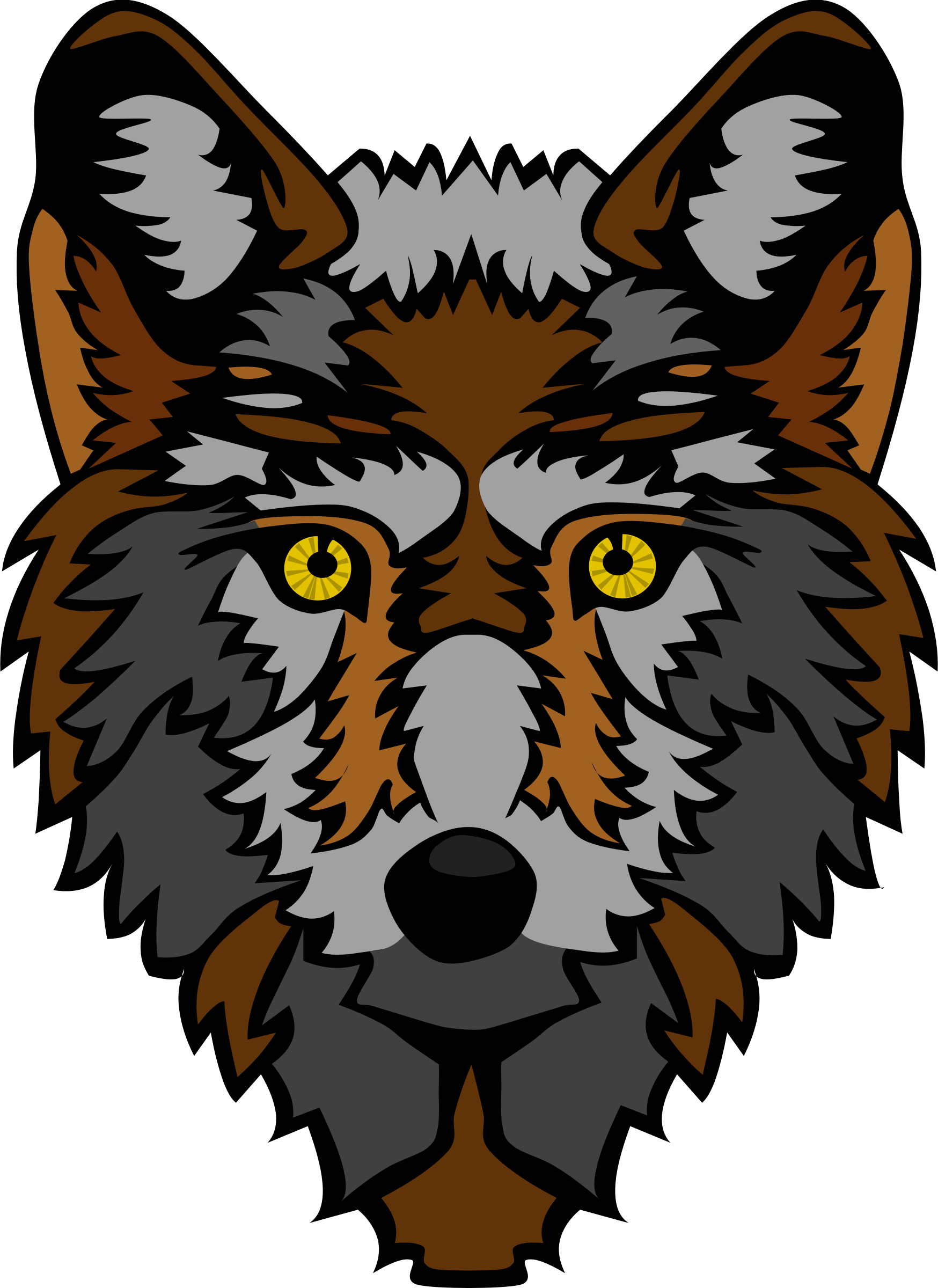 Wolf Head (Stylized) by Gerald_G