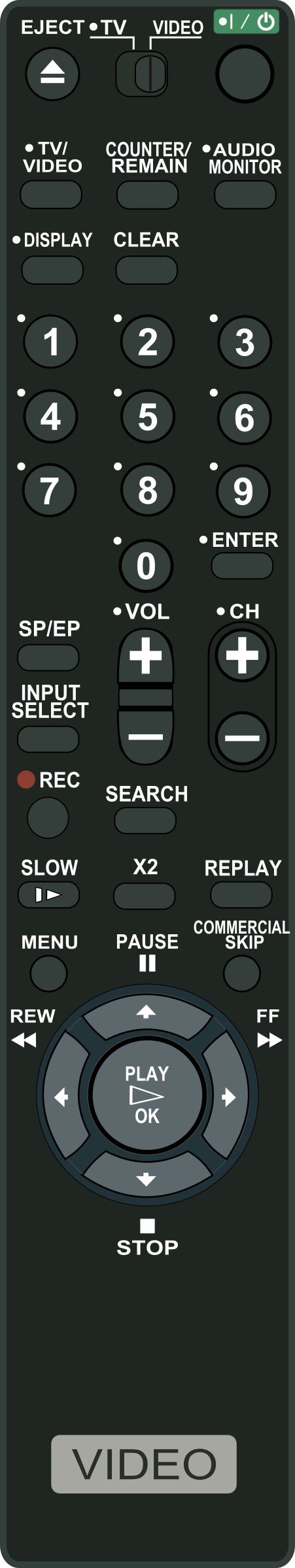 VCR Remote Control by Startright