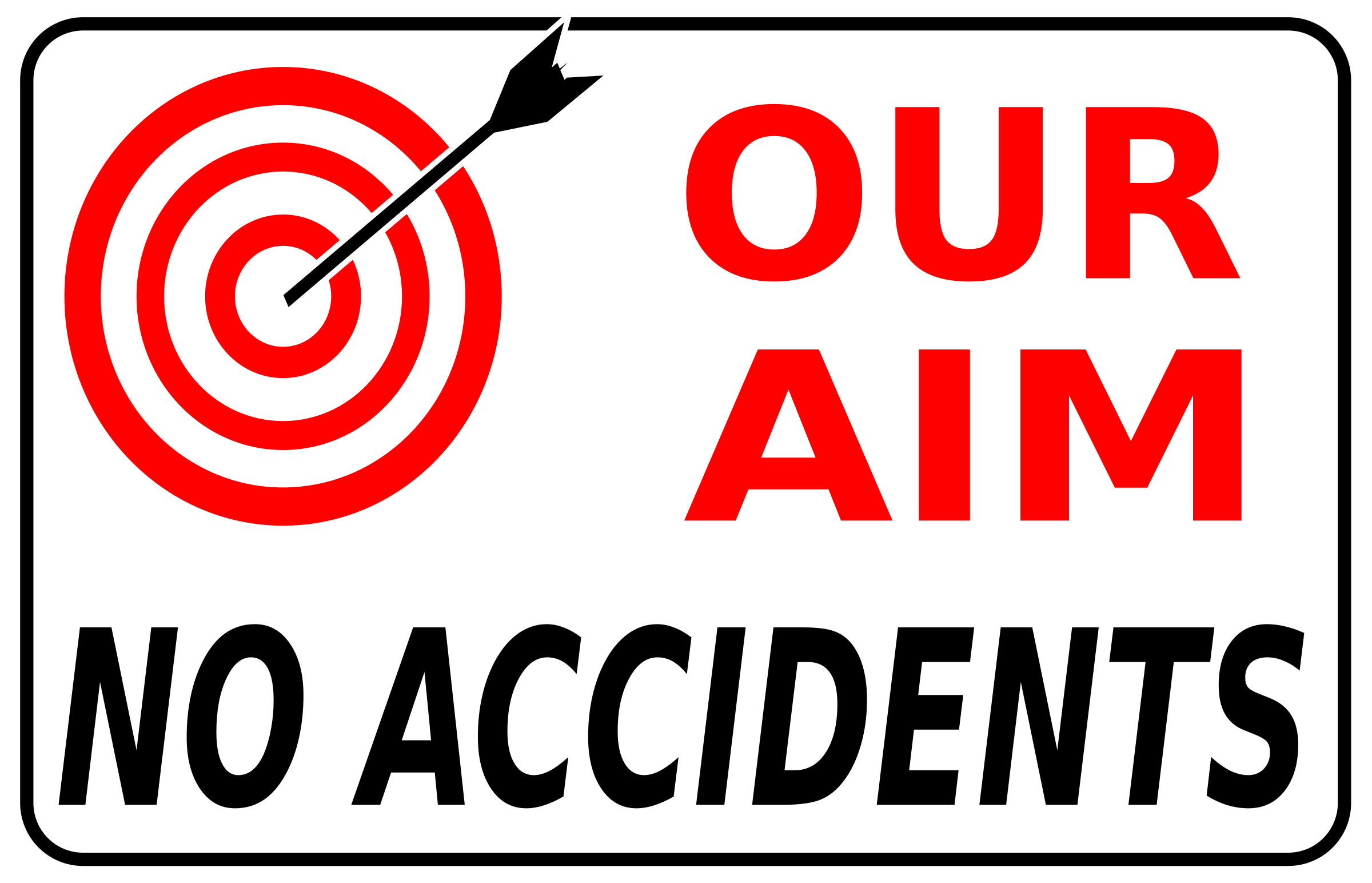 Clipart - Our aim no accidents (simple)