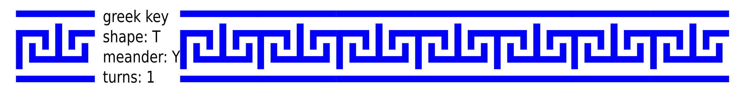 greek key T shape/1 turn/meander/lines by ovideva