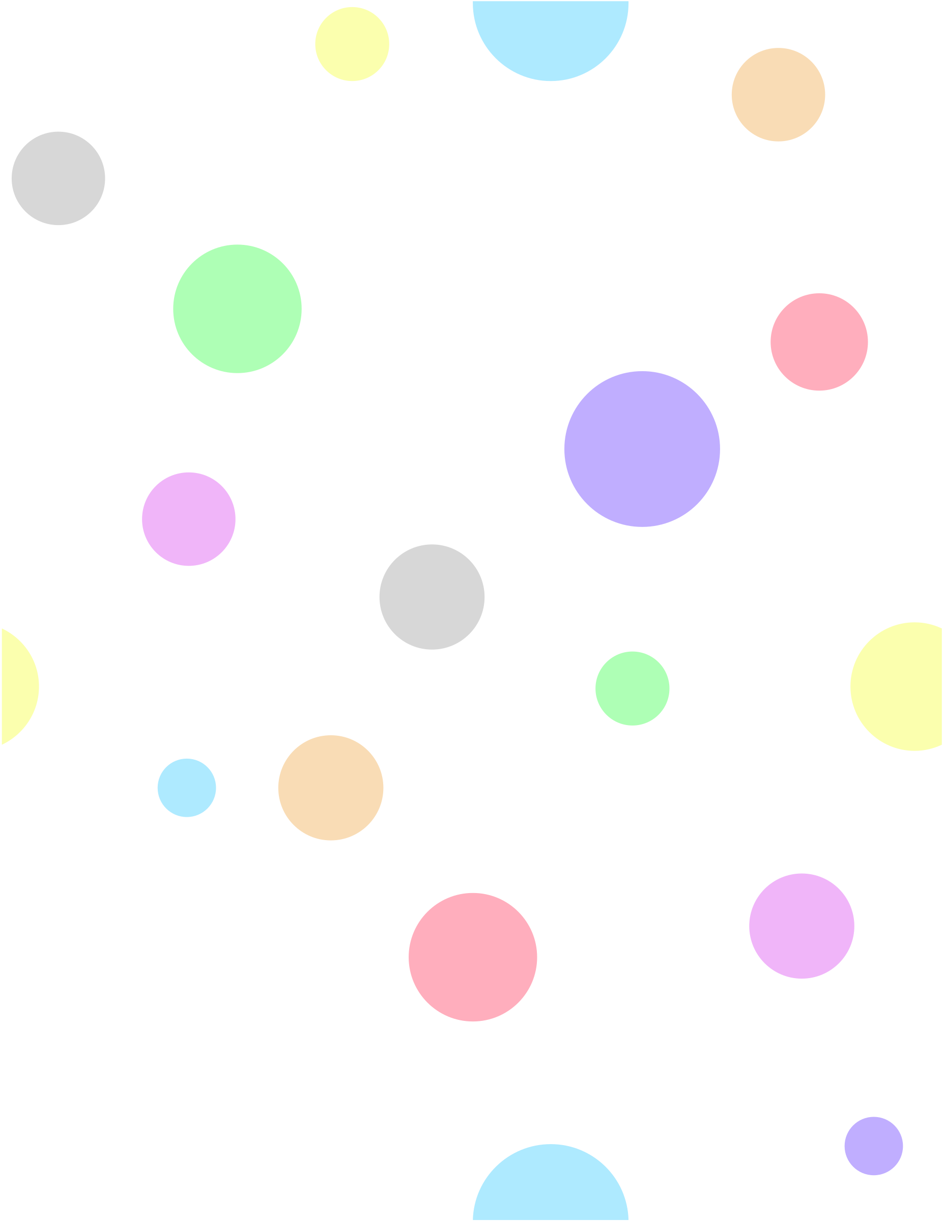 Polka Dots, in Pastel Colors by eady