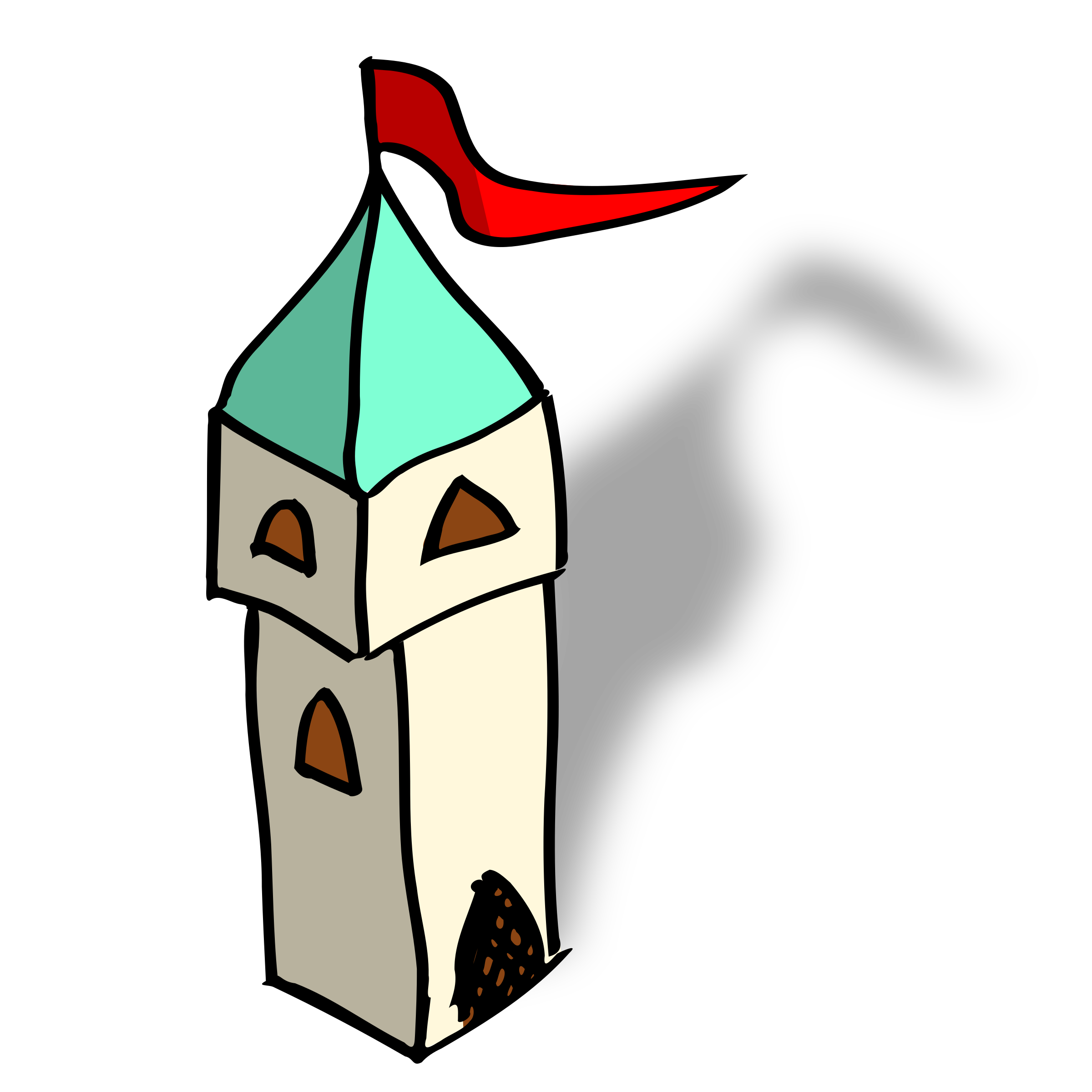 RPG map symbols: tower by nicubunu