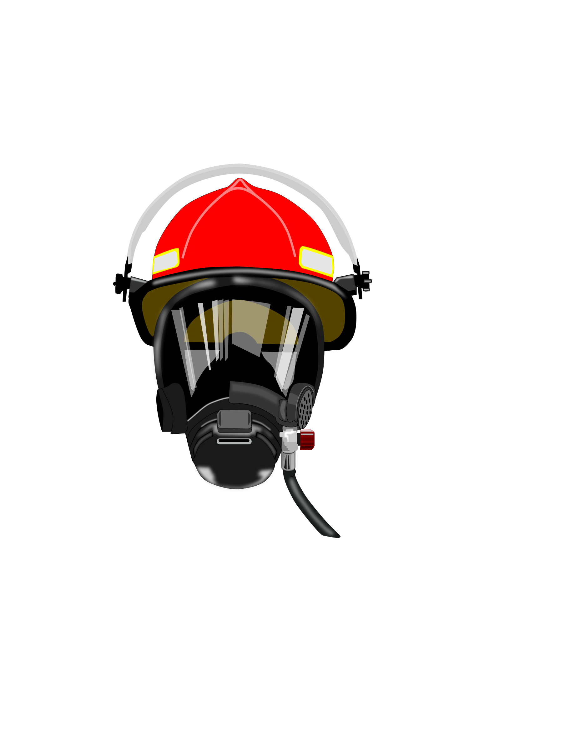 fire helmet/mask by dashell
