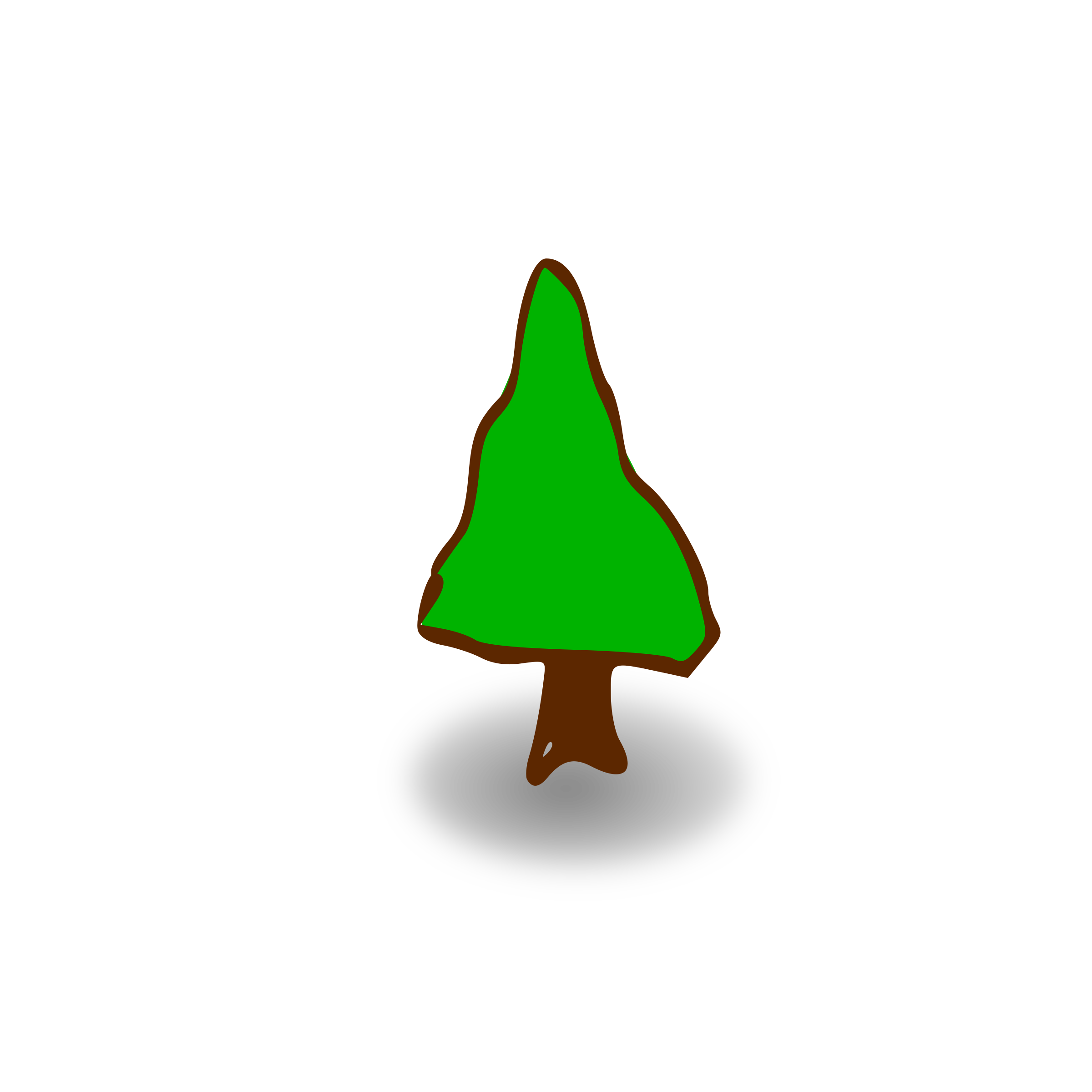RPG map symbols: tree by nicubunu