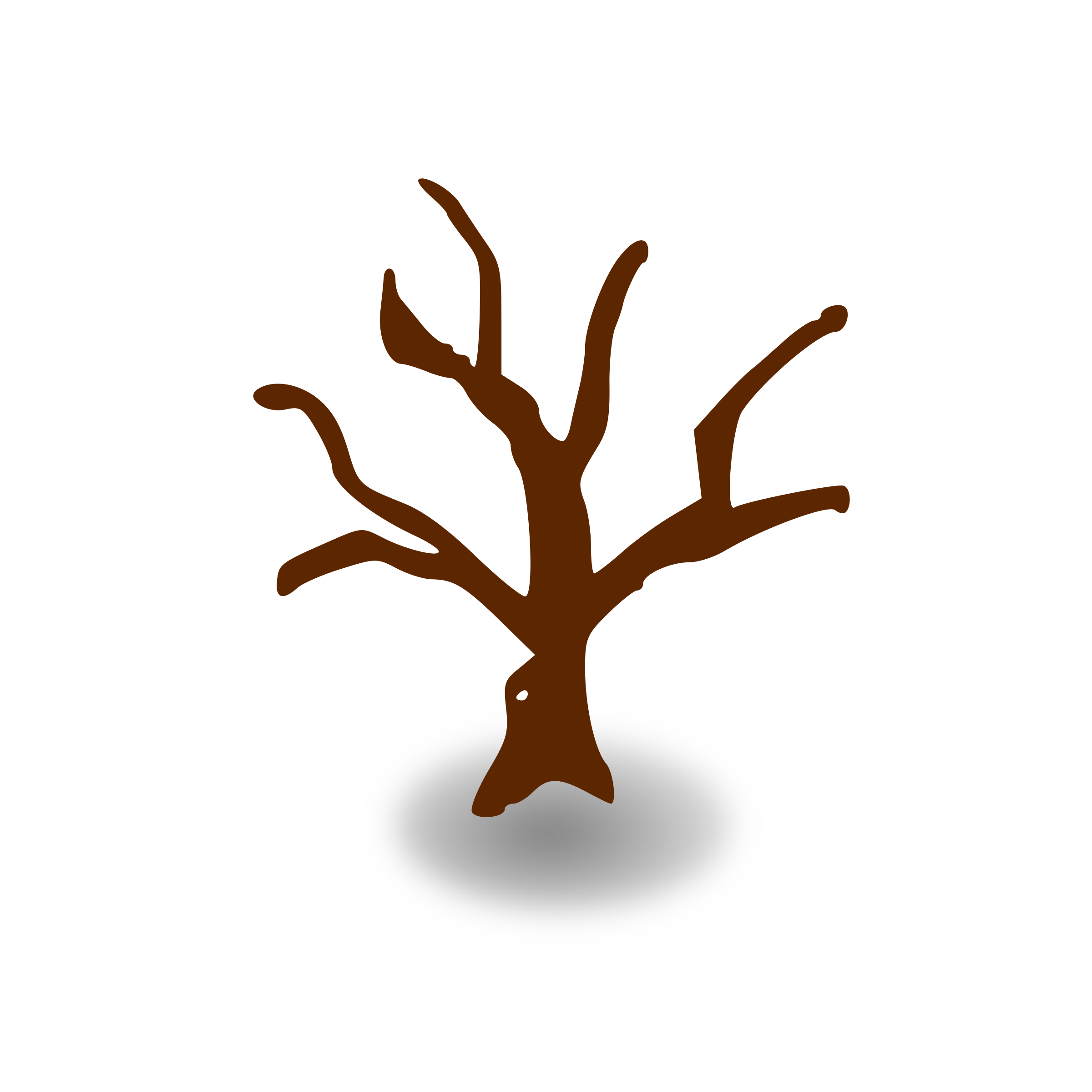 RPG map symbols: deserted tree by nicubunu