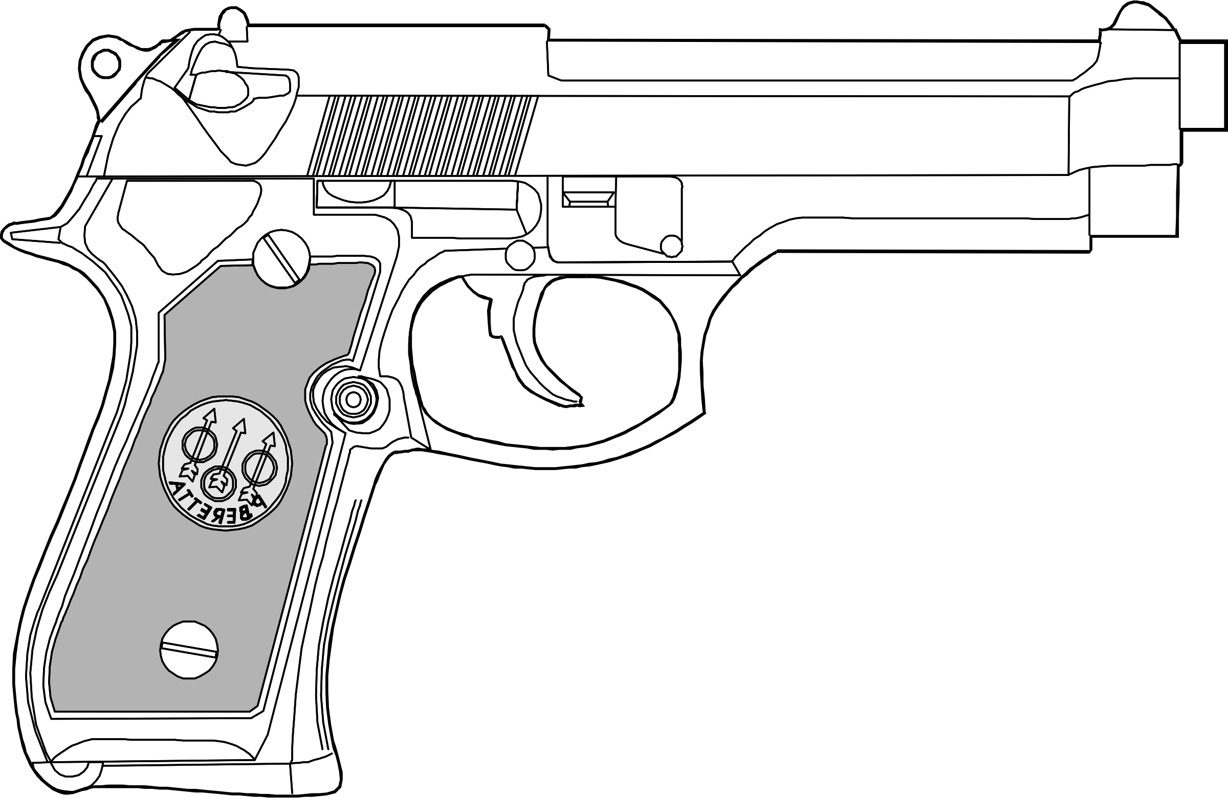 9mm pistol by Anonymous