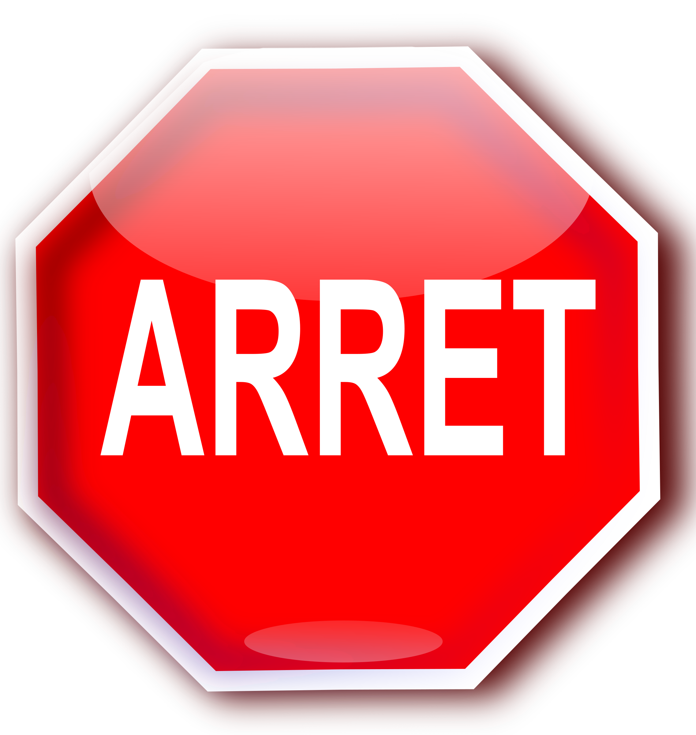 how to say stop in french