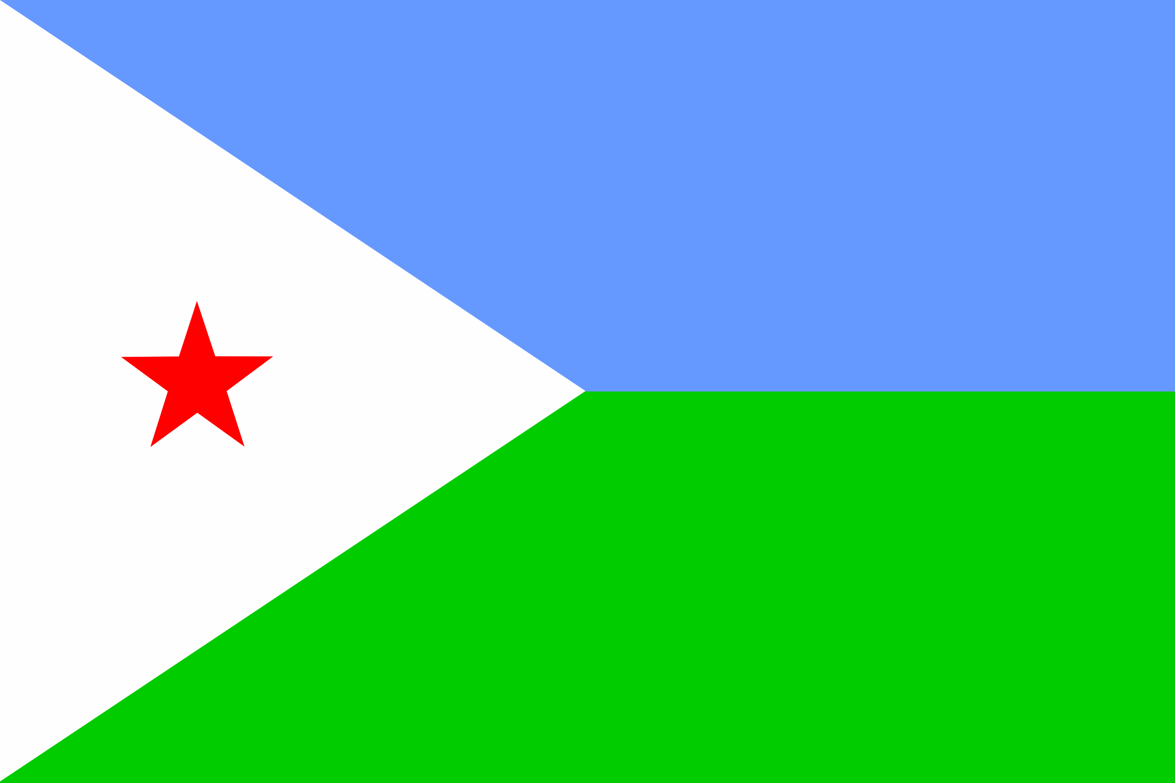Flag of Djibouti by Anonymous