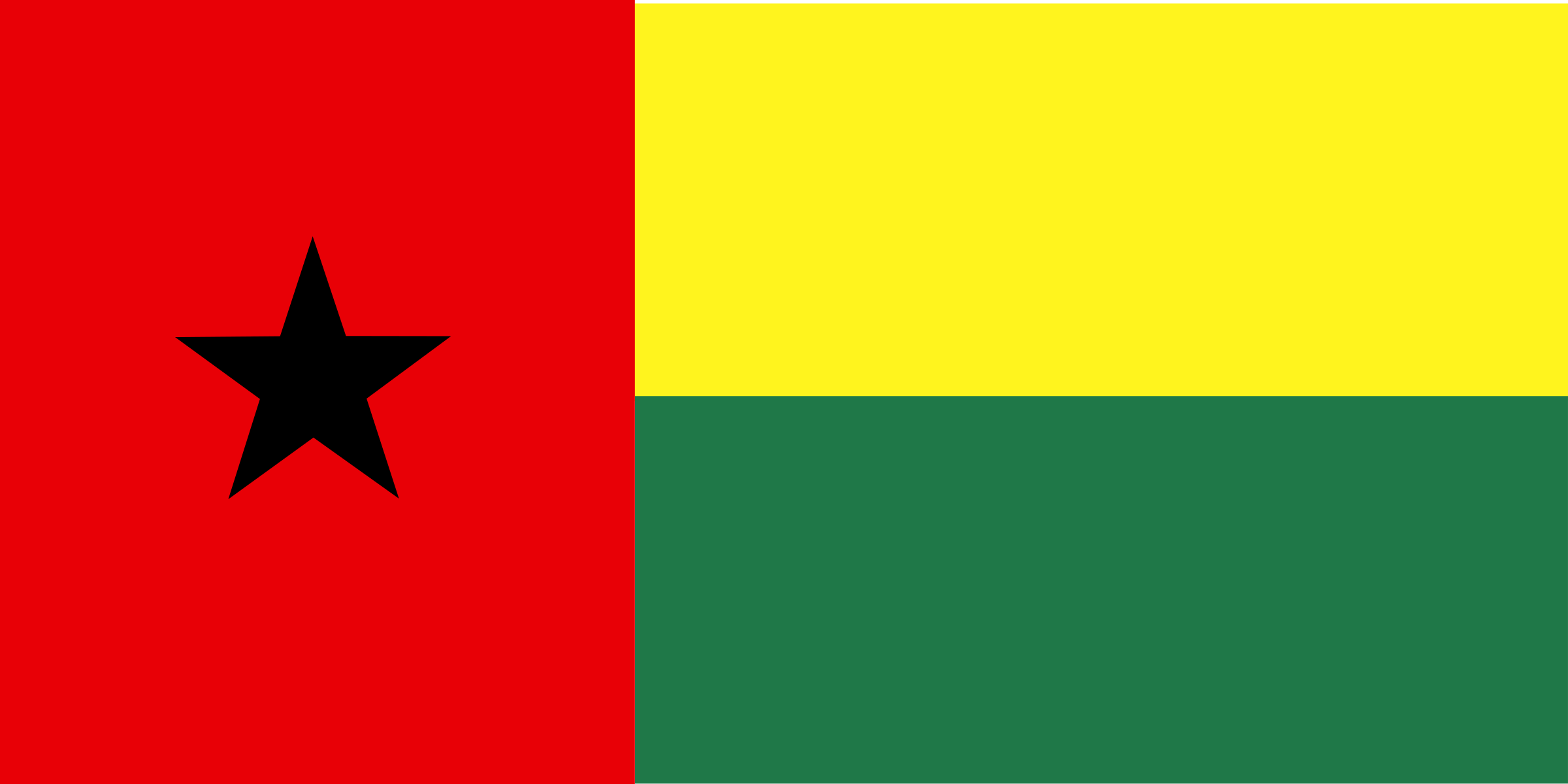 Guinea Bissau flag by Anonymous