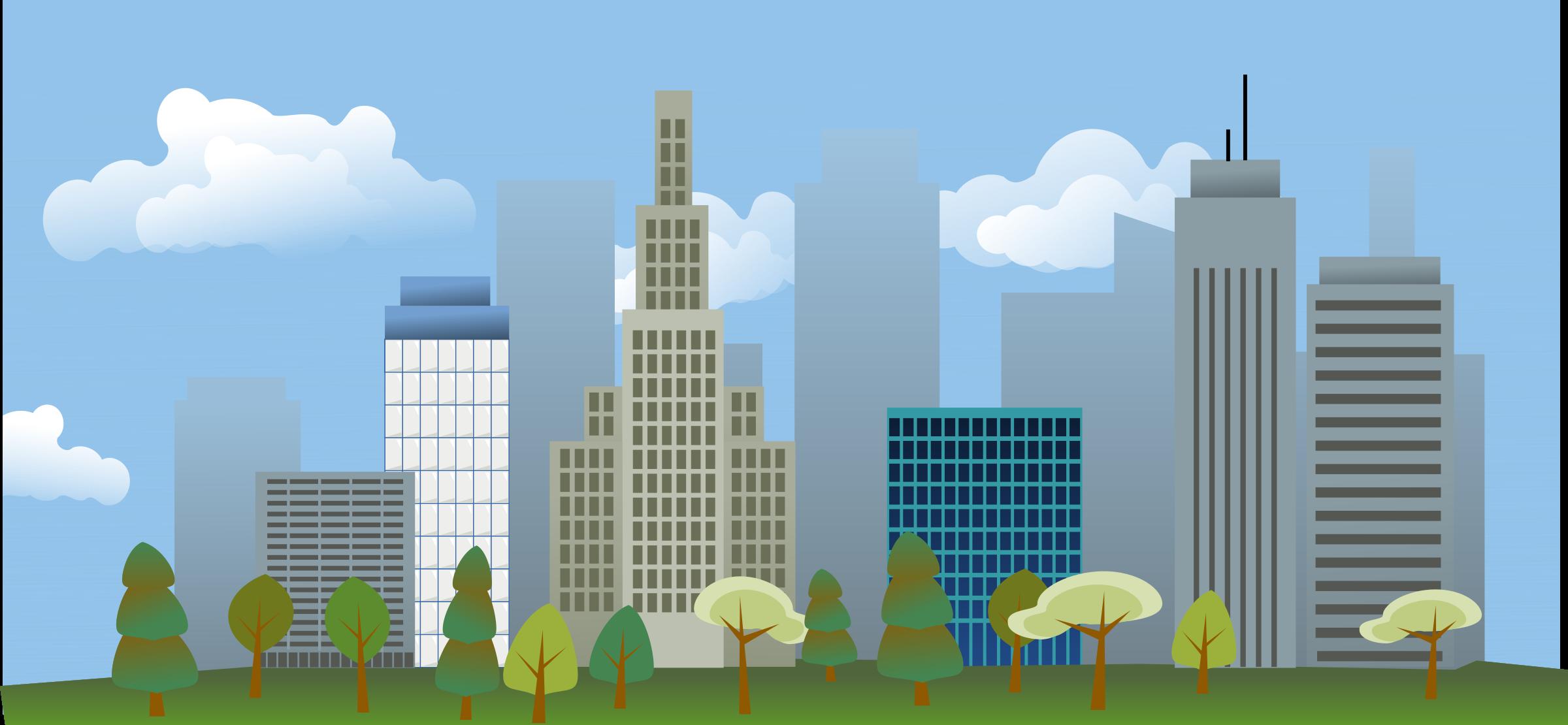 Clipart - city skyline