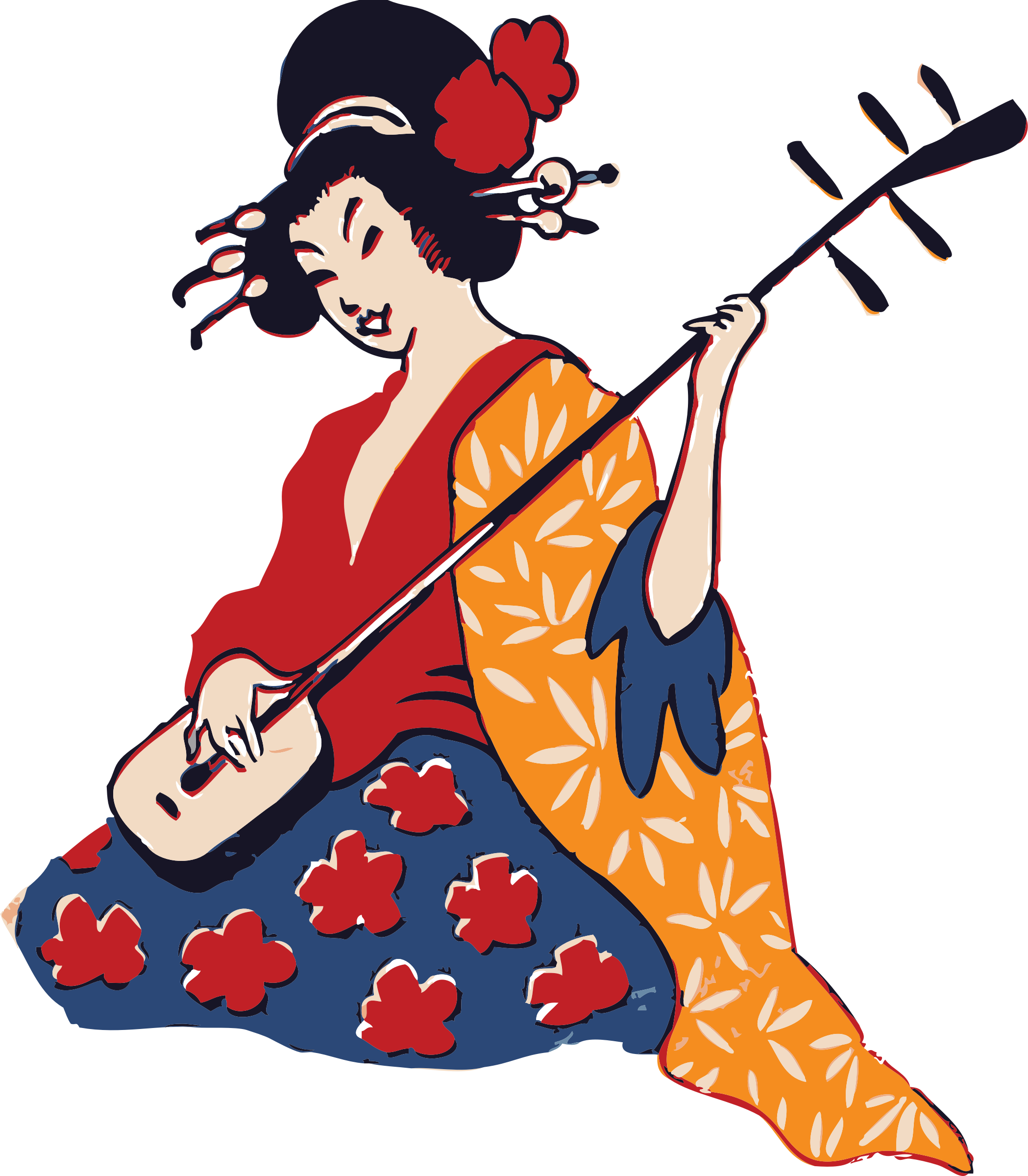 geisha playing shamisen by johnny_automatic