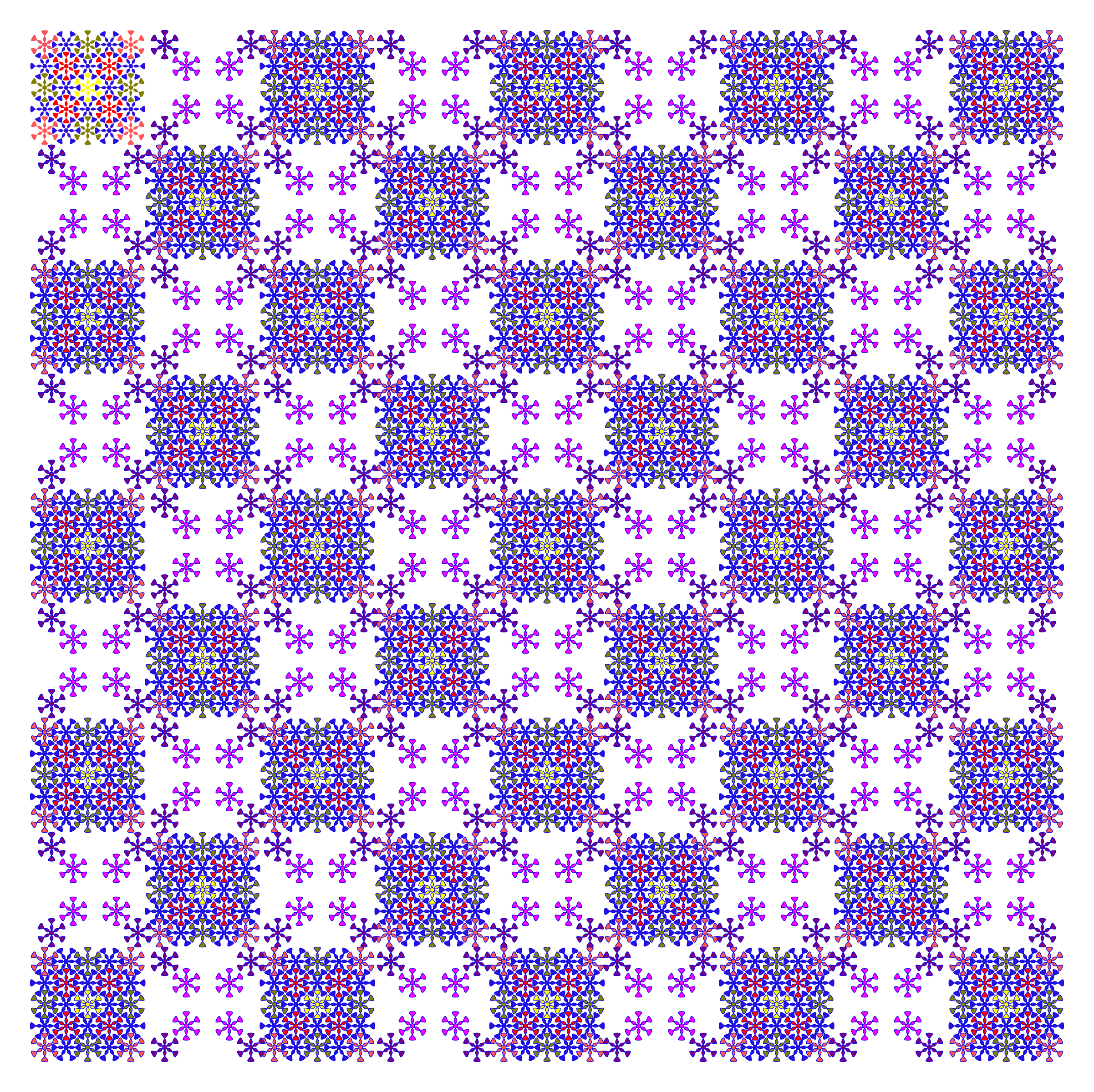 floral chess pattern by ovideva