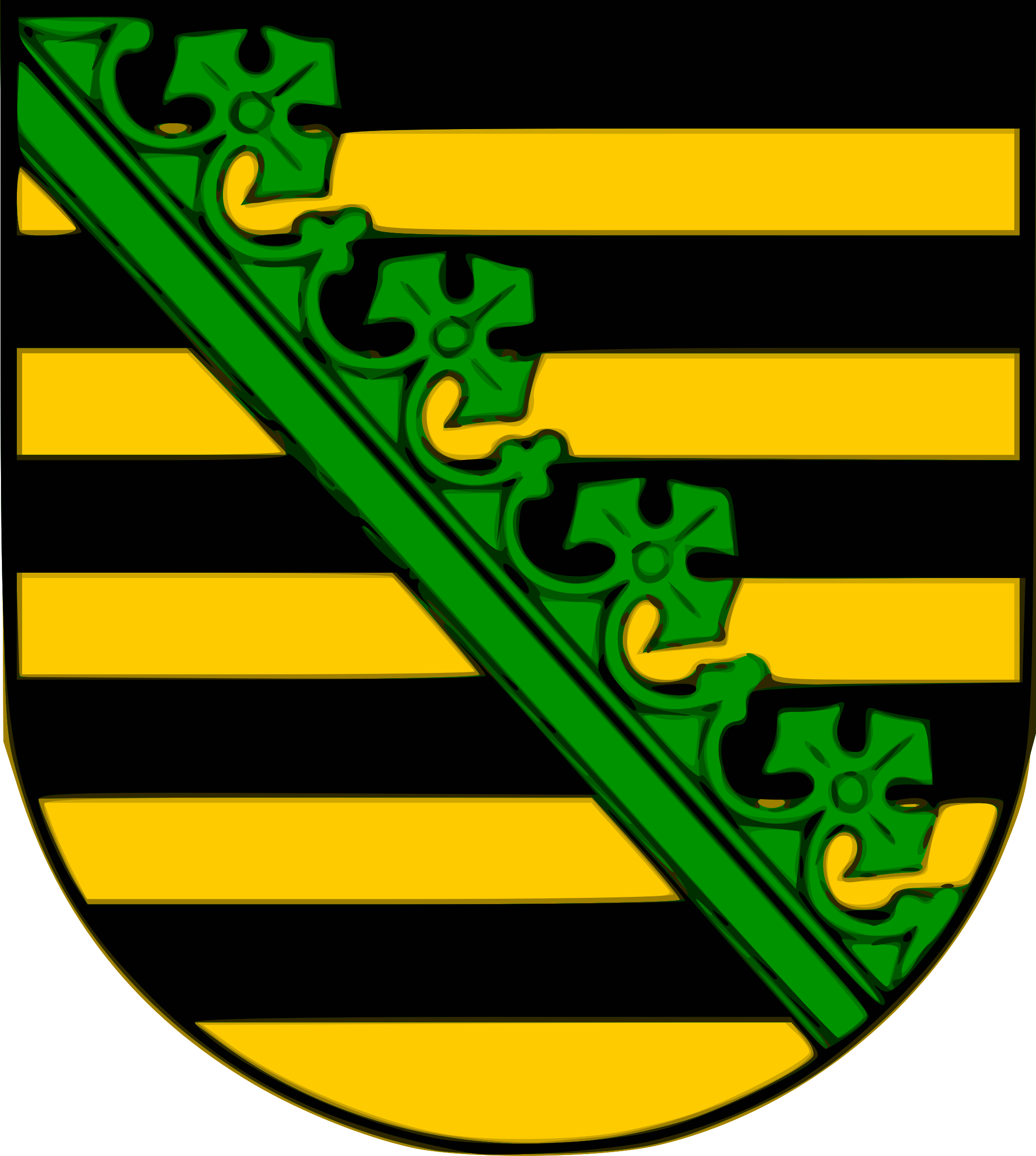 Saxony coat of arms by Anonymous